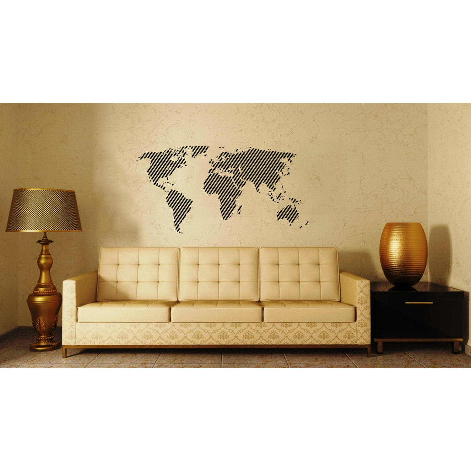 World Map Vinyl Sticker Wall Art - Free Shipping On Orders Over $45 ...