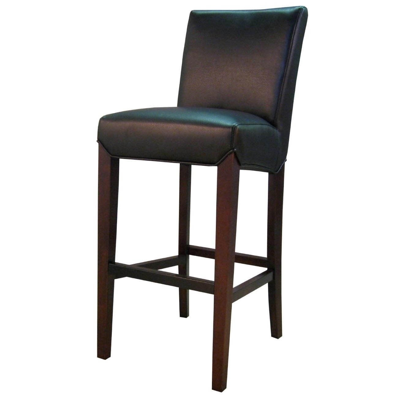 Shop Milton Bonded Leather Bar Stool   Free Shipping Today   Overstock.com    10246243