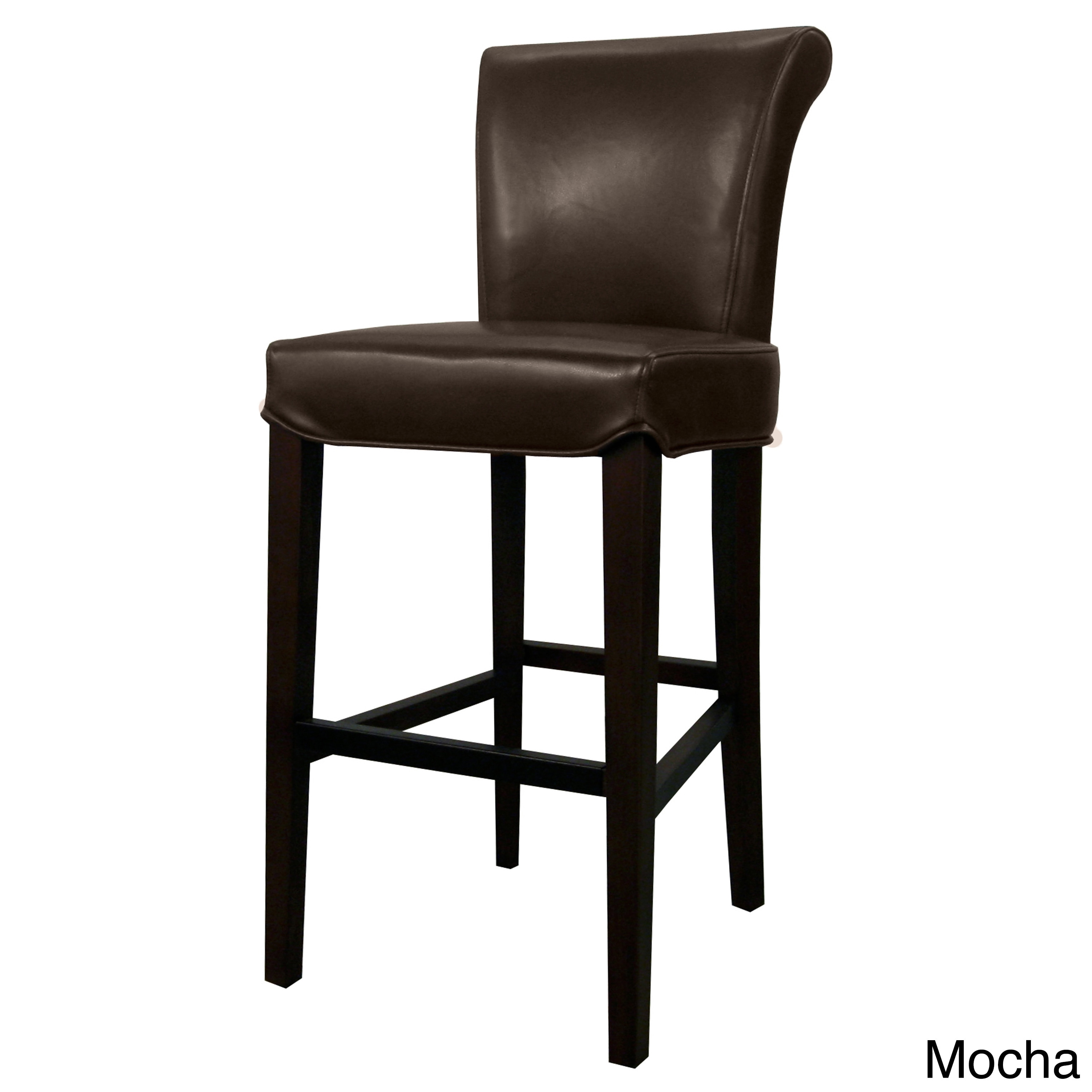Shop bentley leather counter stool free shipping today overstock com 10246266