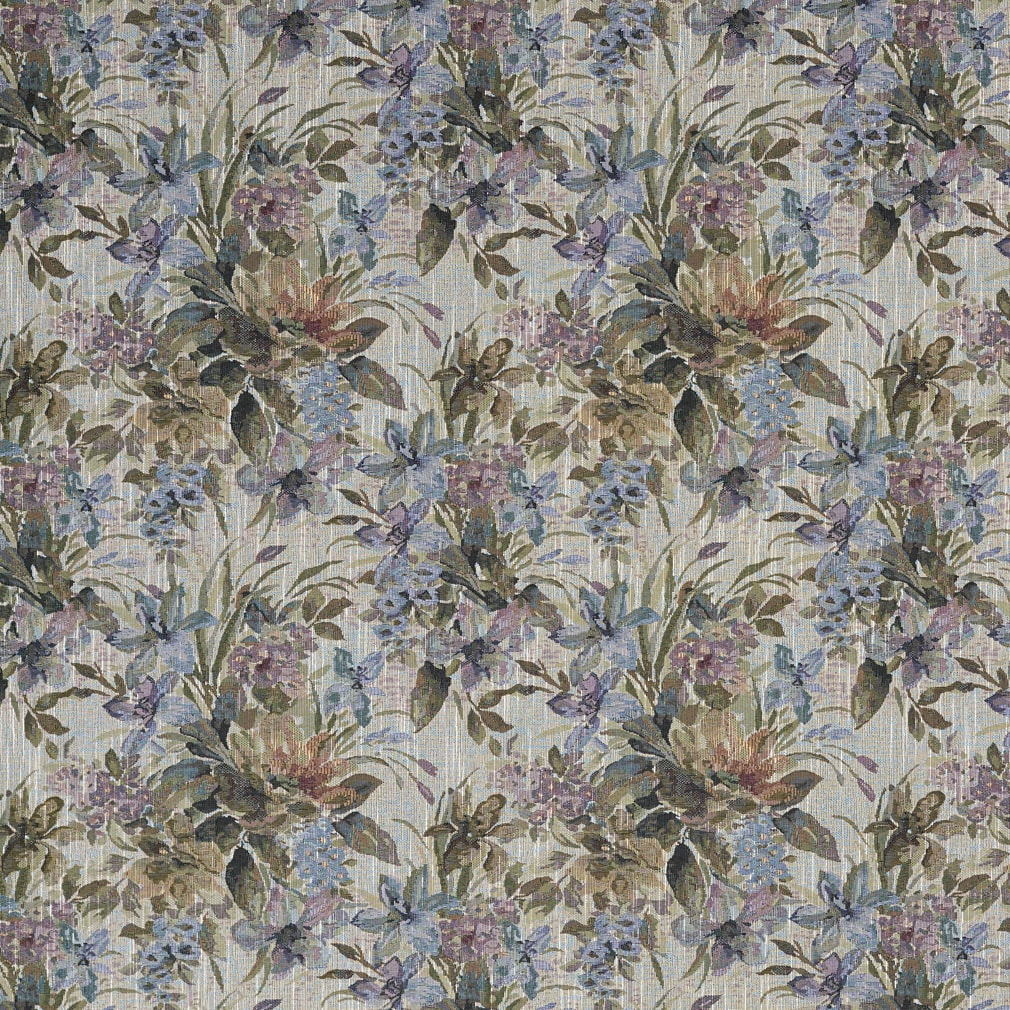 Shop J120 Blue Purple And Green Floral Tapestry Upholstery Fabric