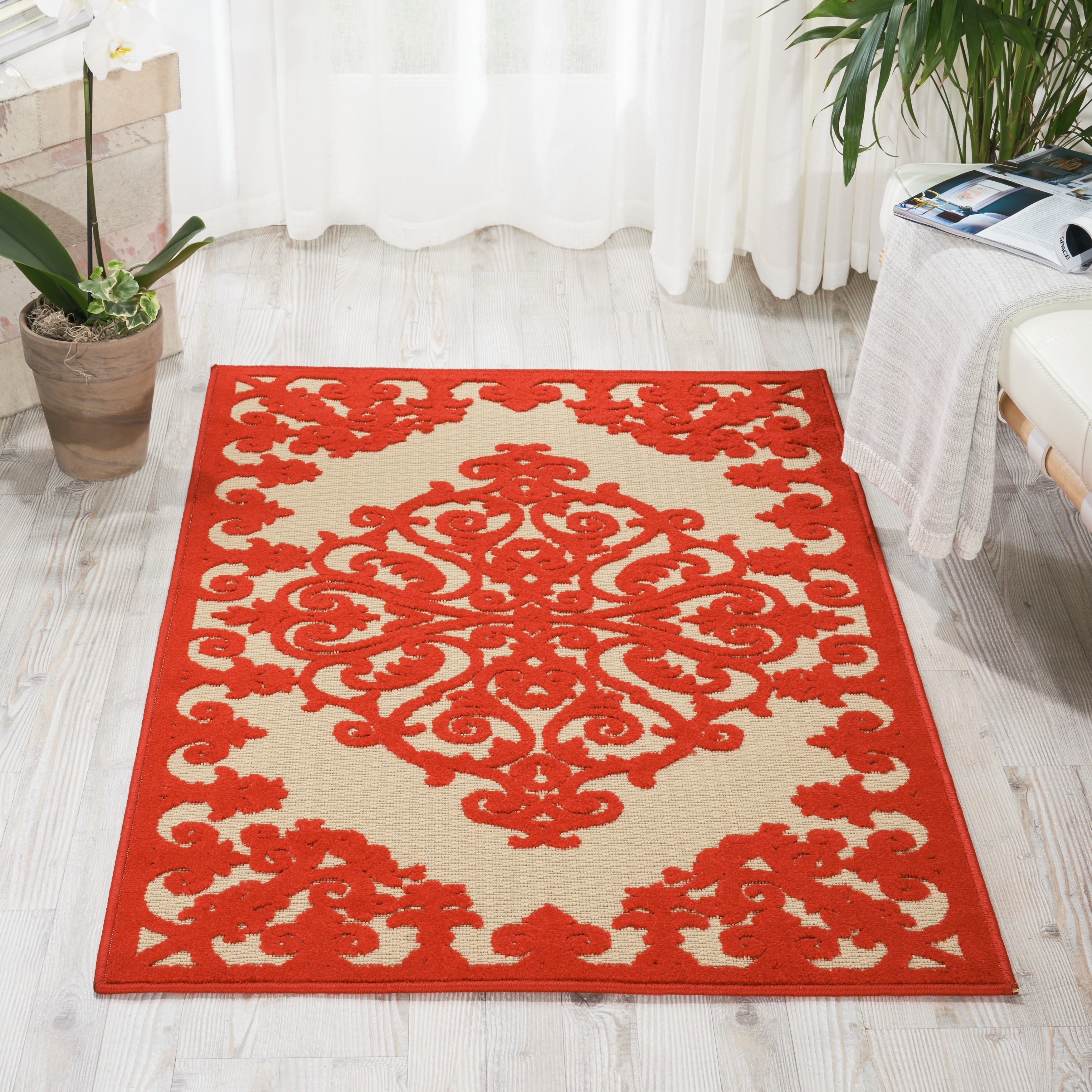 Nourison Aloha Indoor Outdoor Area Rug 3 6 X 5 Free Shipping Today 17366547