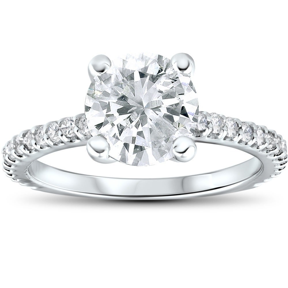 Shop 14k White Gold 2.3ct TDW Clarity Enhanced Diamond Engagement ... a445b0f11a