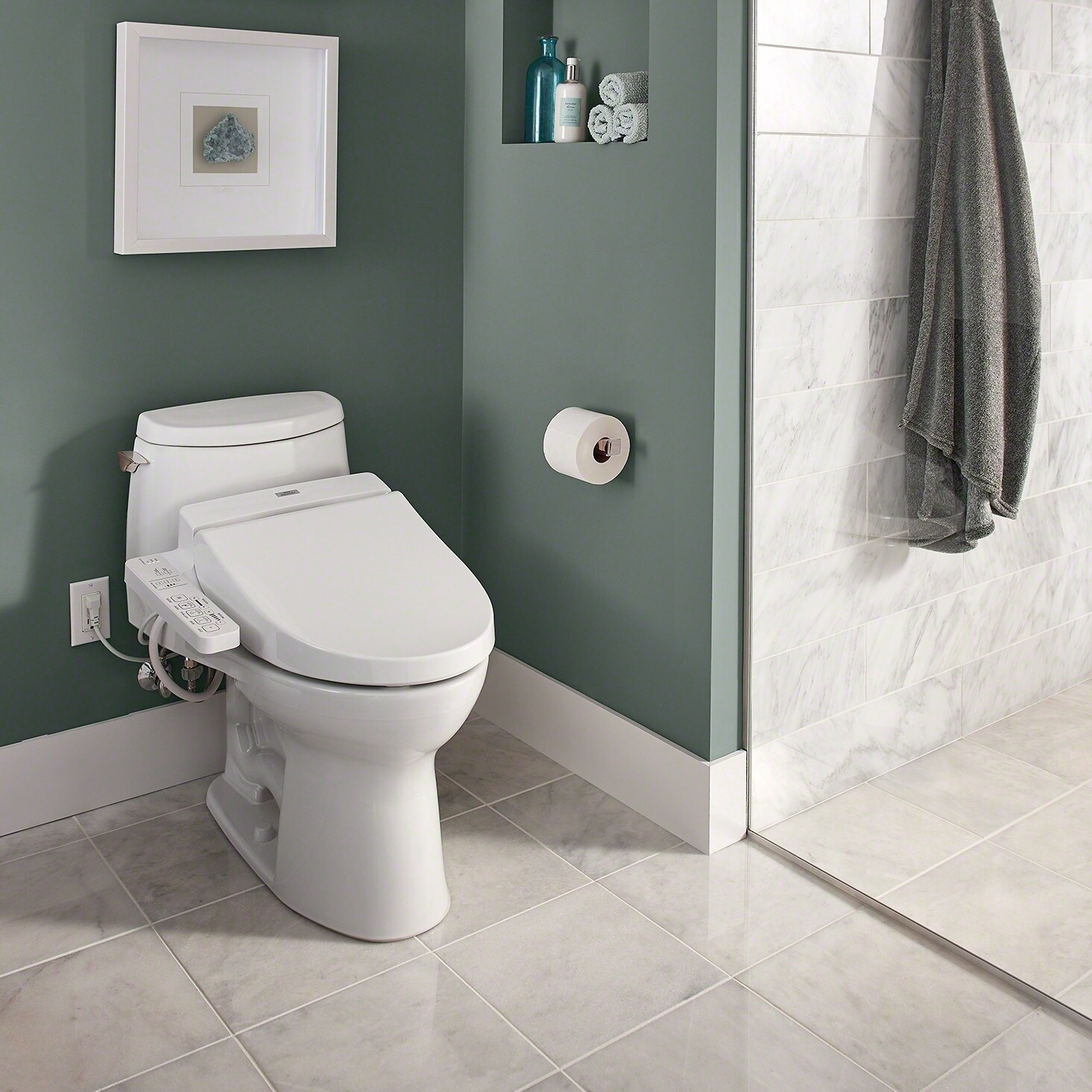 Shop Toto Washlet C100 Electronic Bidet Toilet Seat With Premist