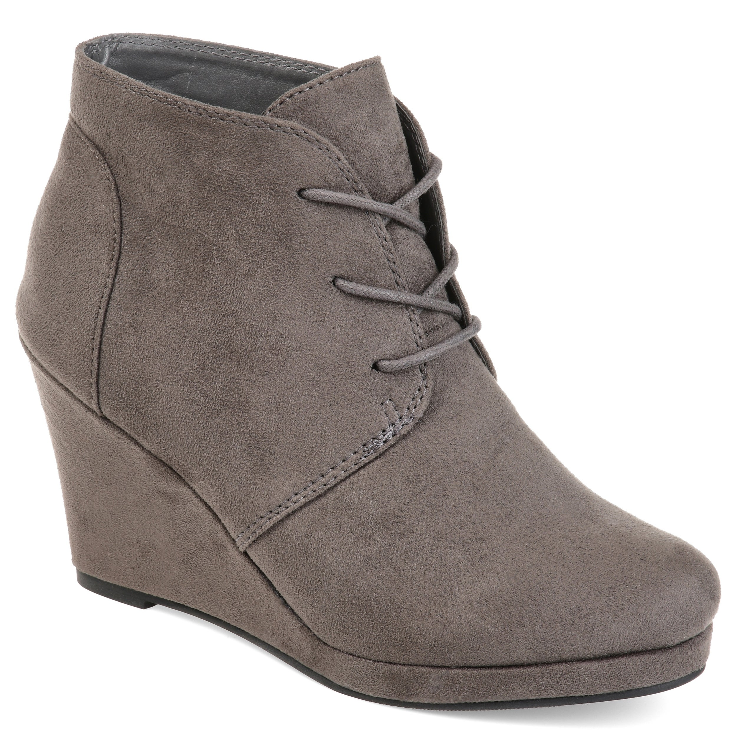 Shop Journee Collection Women s  Enter  Faux Suede Wedge Booties - On Sale  - Free Shipping Today - Overstock - 10266402 e3f10fcbc