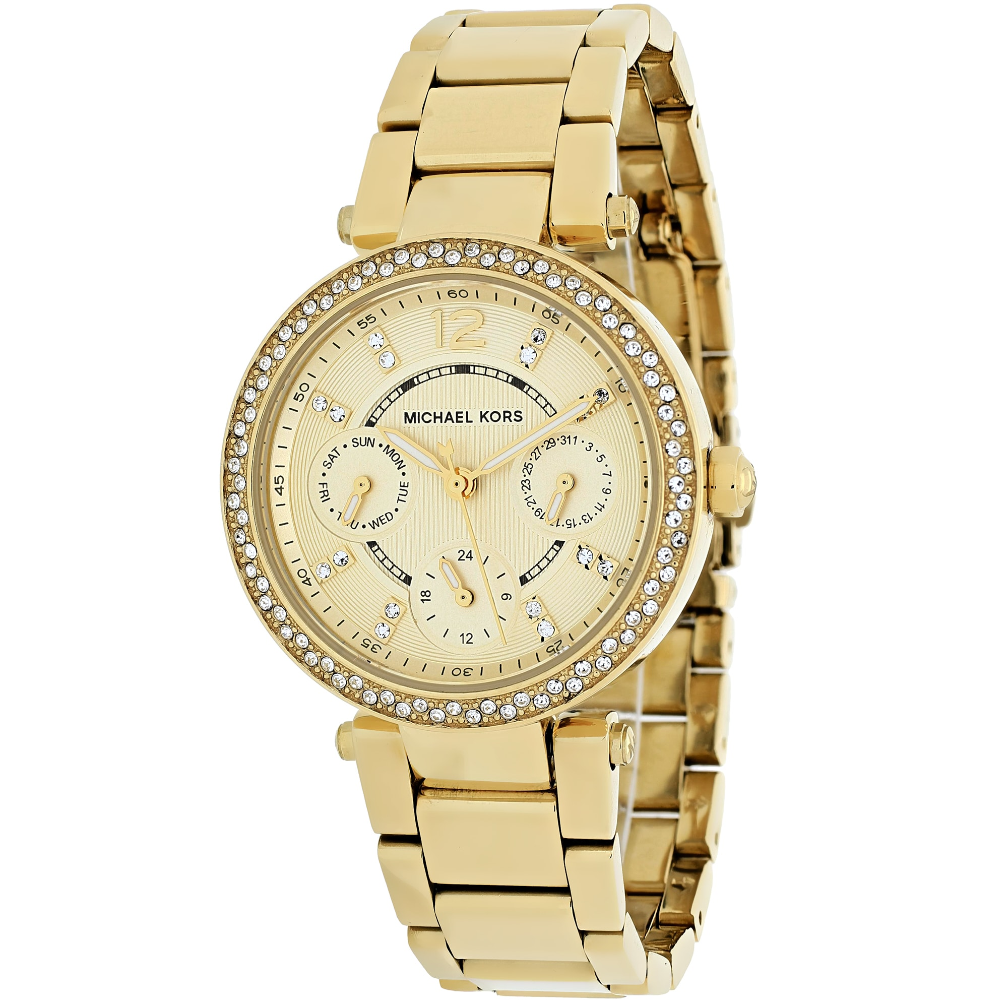 95a8d0865ea97 Michael Kors Women s  Mini Parker  Gold Tone Ion Plated Stainless Steel  MK6056 Watch