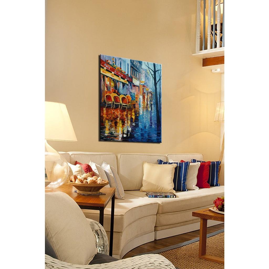 Shop Leonid Afremov \'Cafe In Paris\' Giclee Print Canvas Wall Art ...