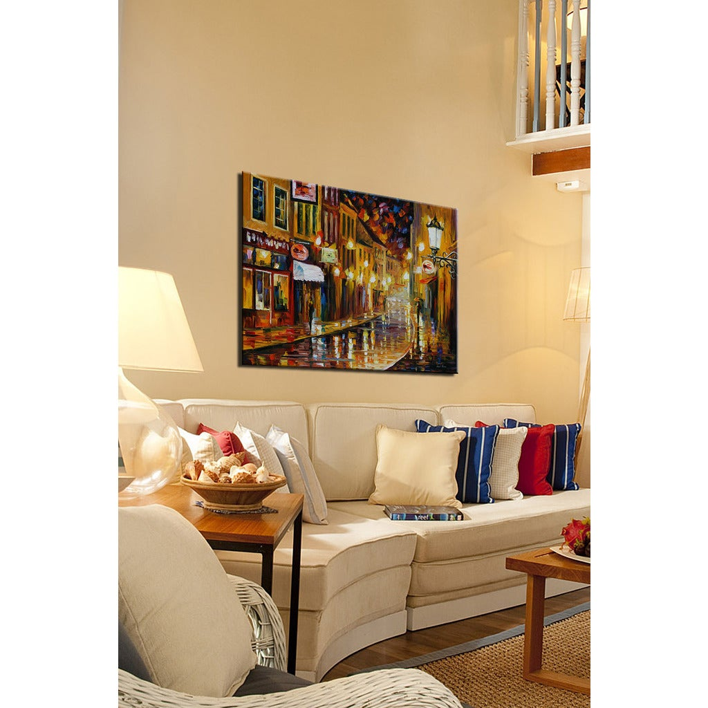 Leonid Afremov \'Lights Of The Old Town\' Giclee Print Canvas Wall Art ...
