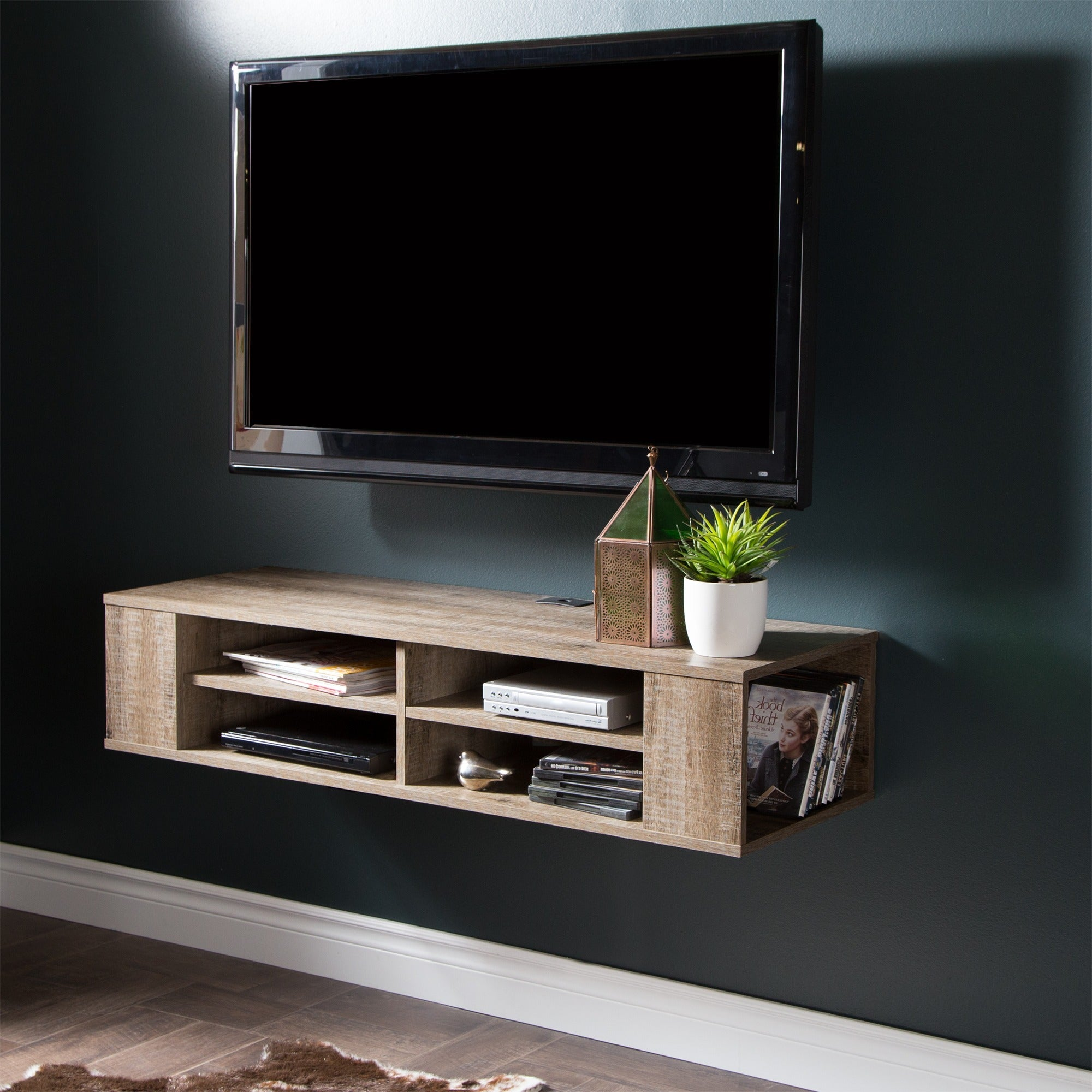 South Shore City Life Wall Mounted Media Console - Free Shipping Today -  Overstock.com - 17389796