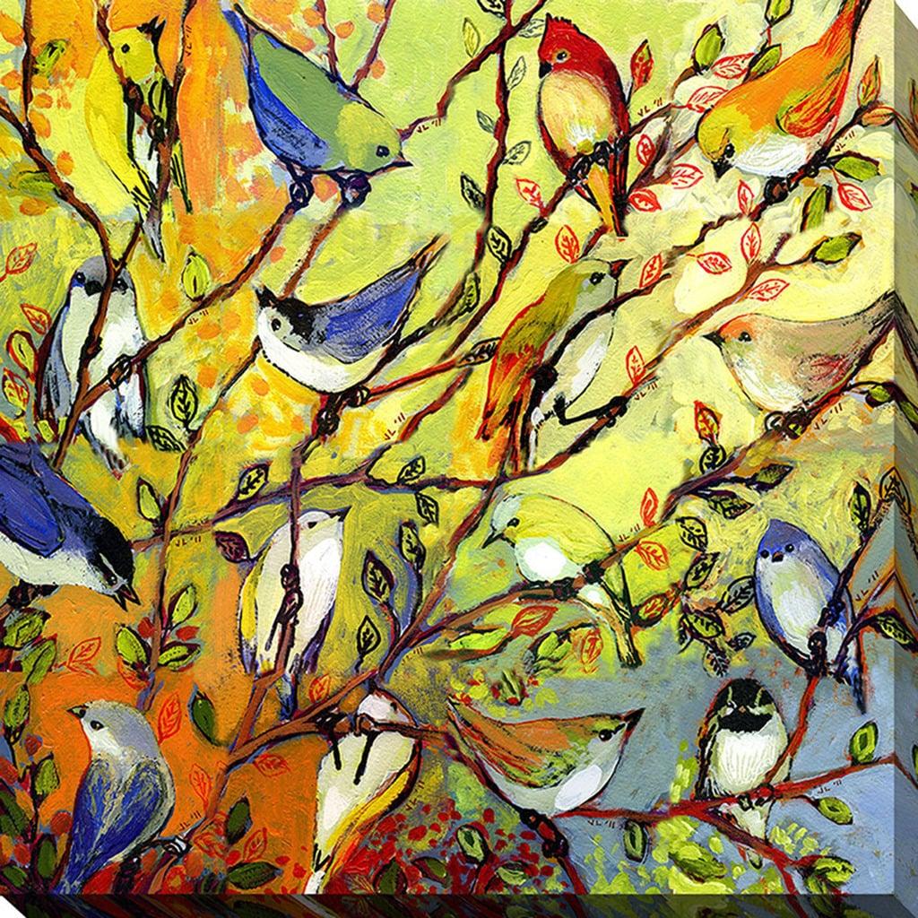Shop Jennifer Lommers \'16 Birds\' Giclee Print Canvas Wall Art - On ...