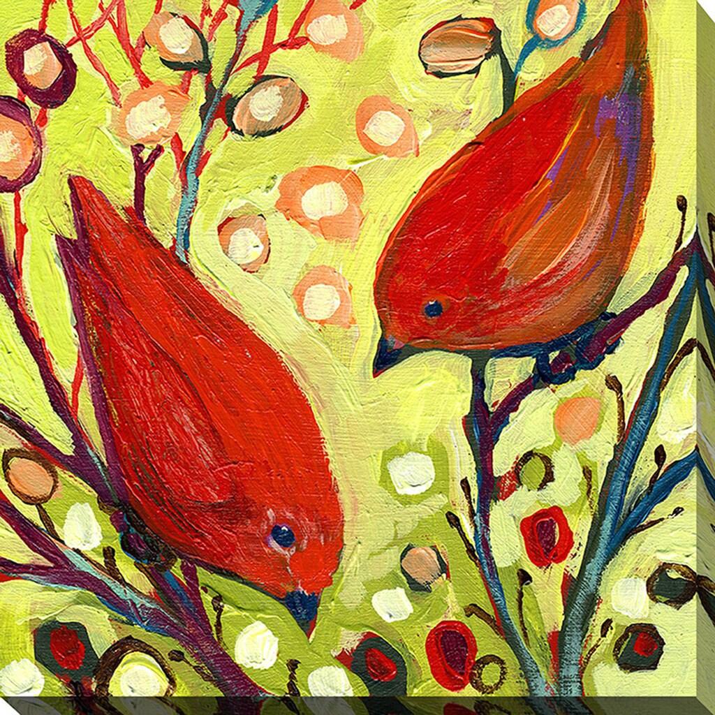 Jennifer Lommers \'Bird VI\' Giclee Print Canvas Wall Art - Free ...