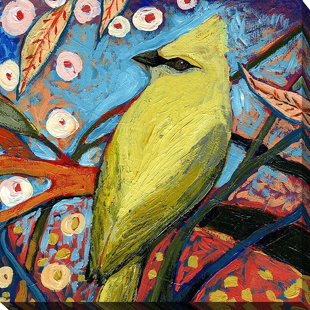 Shop Jennifer Lommers \'Bird XII\' Giclee Print Canvas Wall Art - On ...