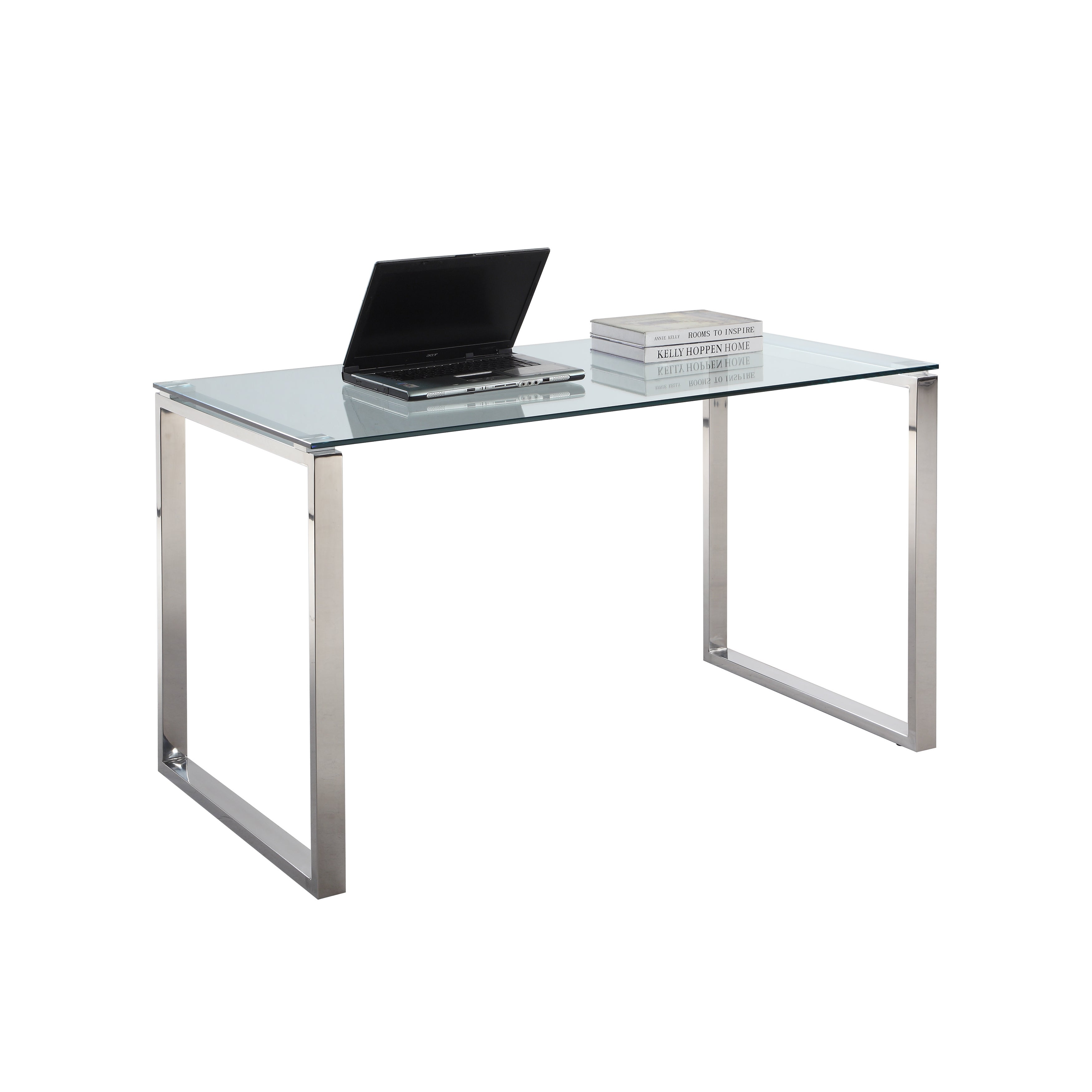 Shop somette gloss white home office computer desk free shipping today overstock com 10274284
