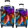 iKase Night Mermaid 2-piece Hardside Spinner Luggage Set