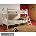Twin/Twin Wood Bunk Bed with Arched Design