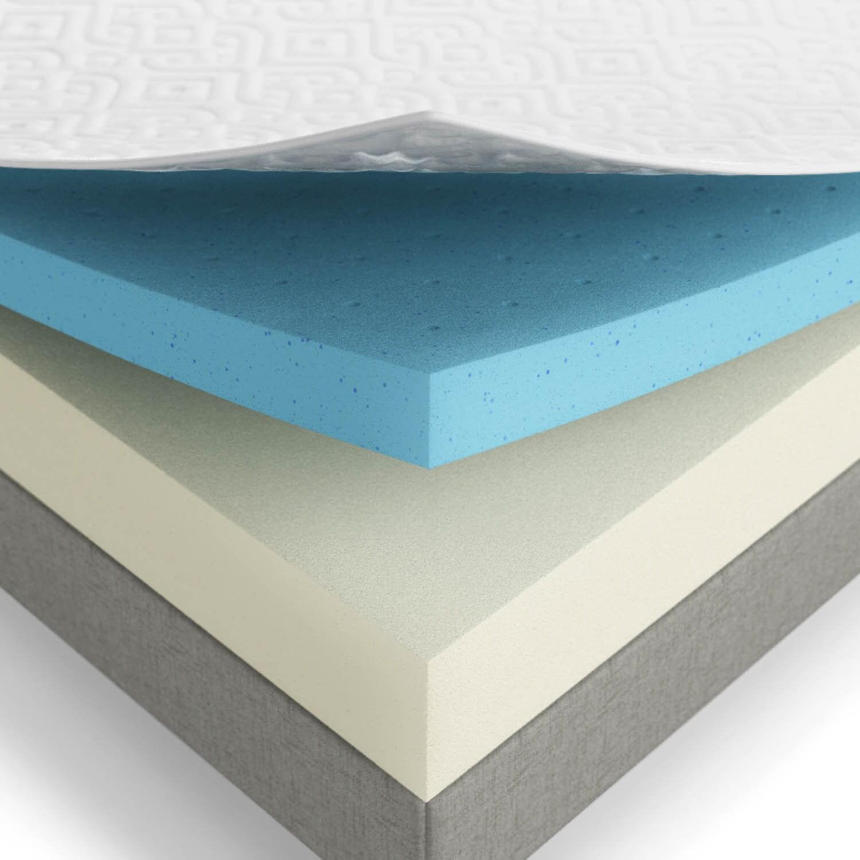 LUCID 10 inch Full size Gel Memory Foam Mattress Free Shipping