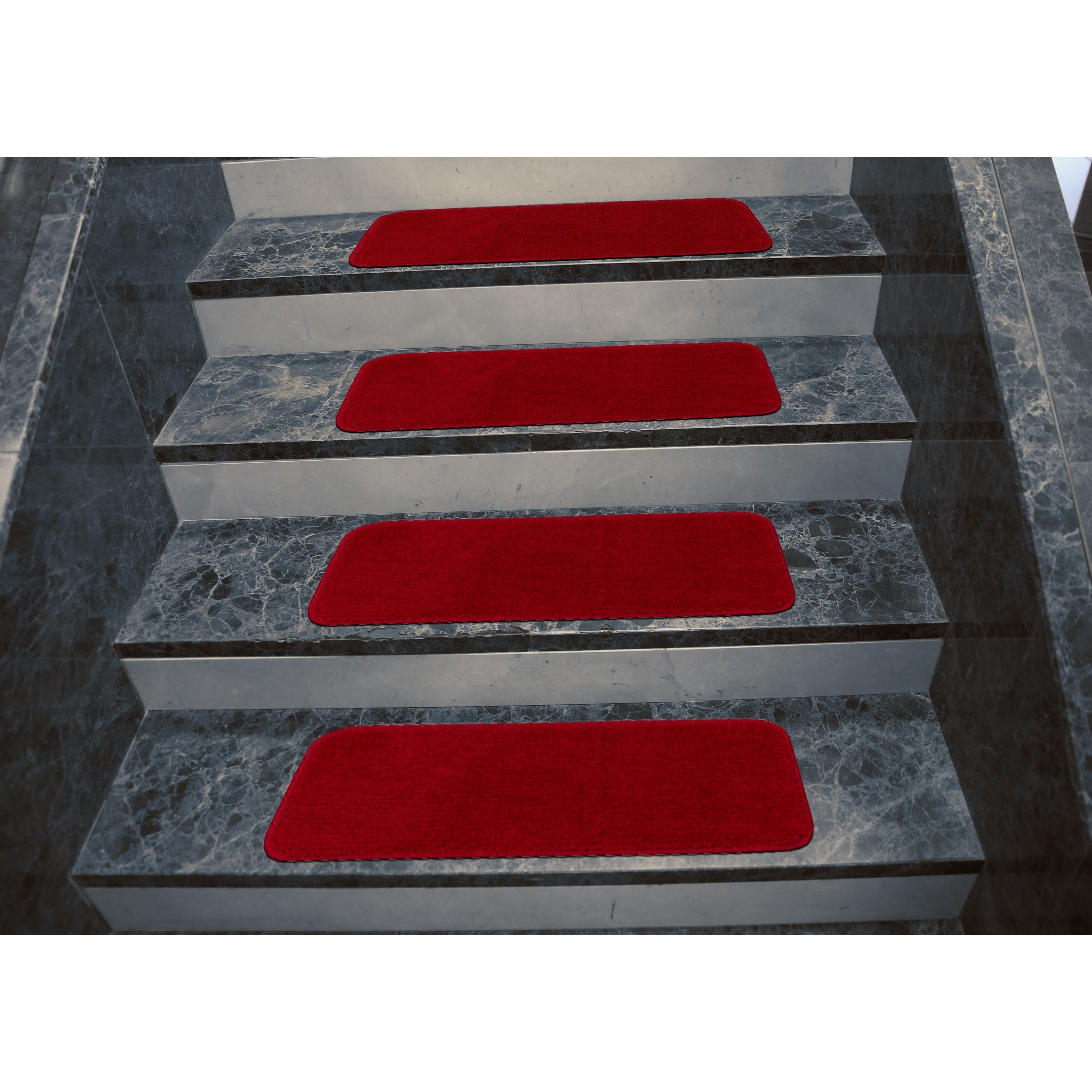 Ottomanson Softy Collection Solid Design Stair Tread Rug (Set Of 7)   9 X  26   Free Shipping On Orders Over $45   Overstock   17392866