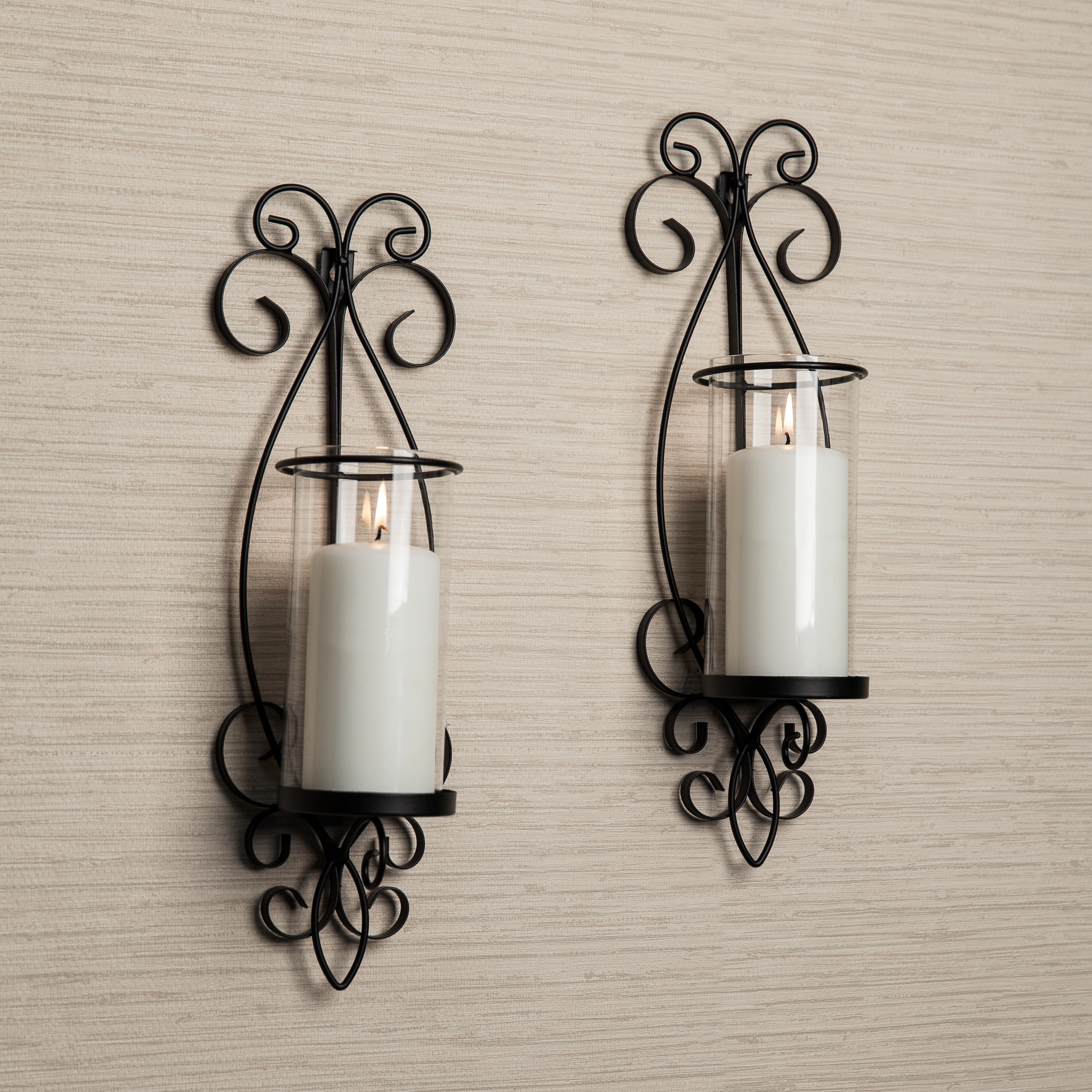 garden wall sconce free metal product glass round and iron home overstock shipping today