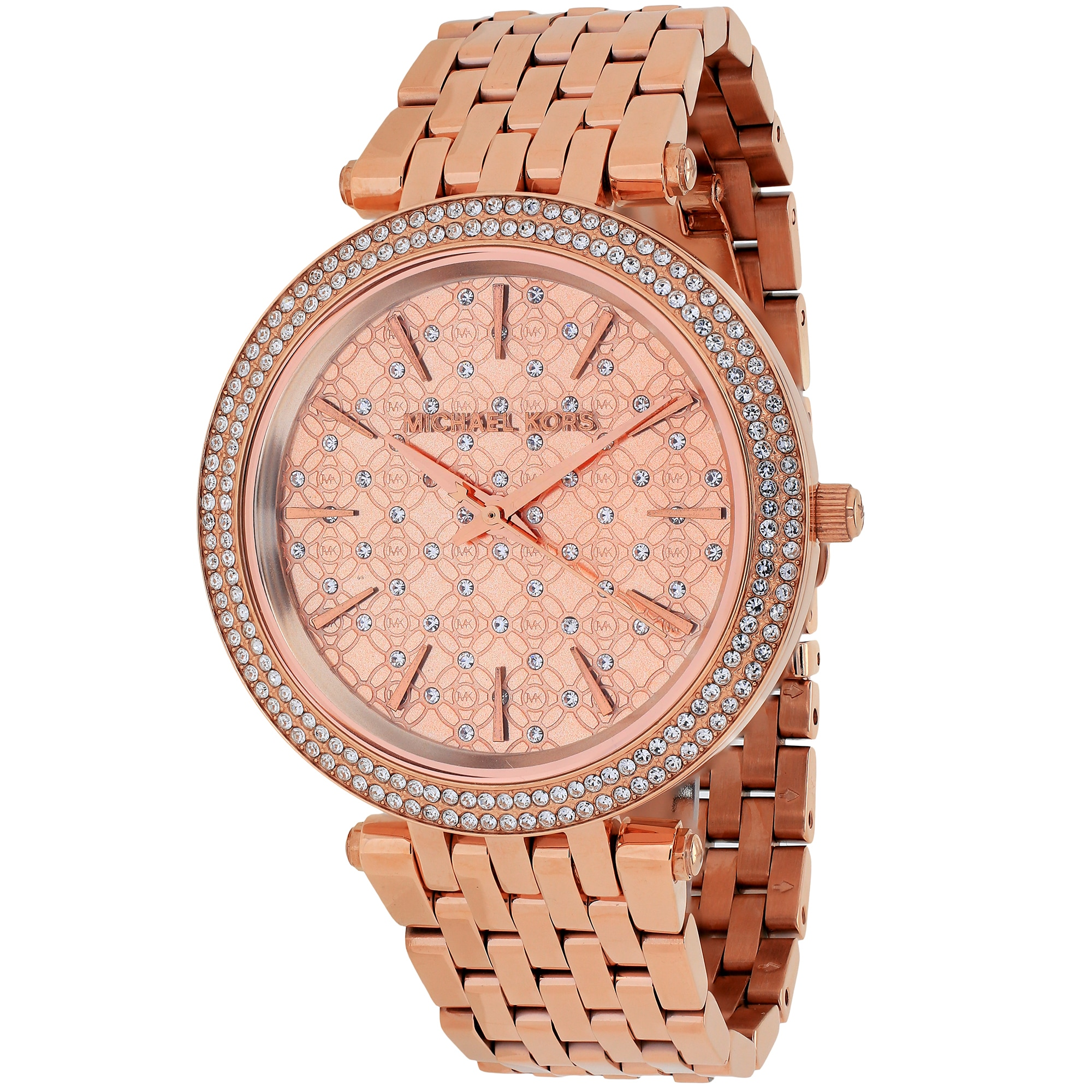 63415bfb841f Shop Michael Kors Women s MK3399 Darci Round Rose Gold-tone Bracelet Watch  - Free Shipping Today - Overstock - 10280410