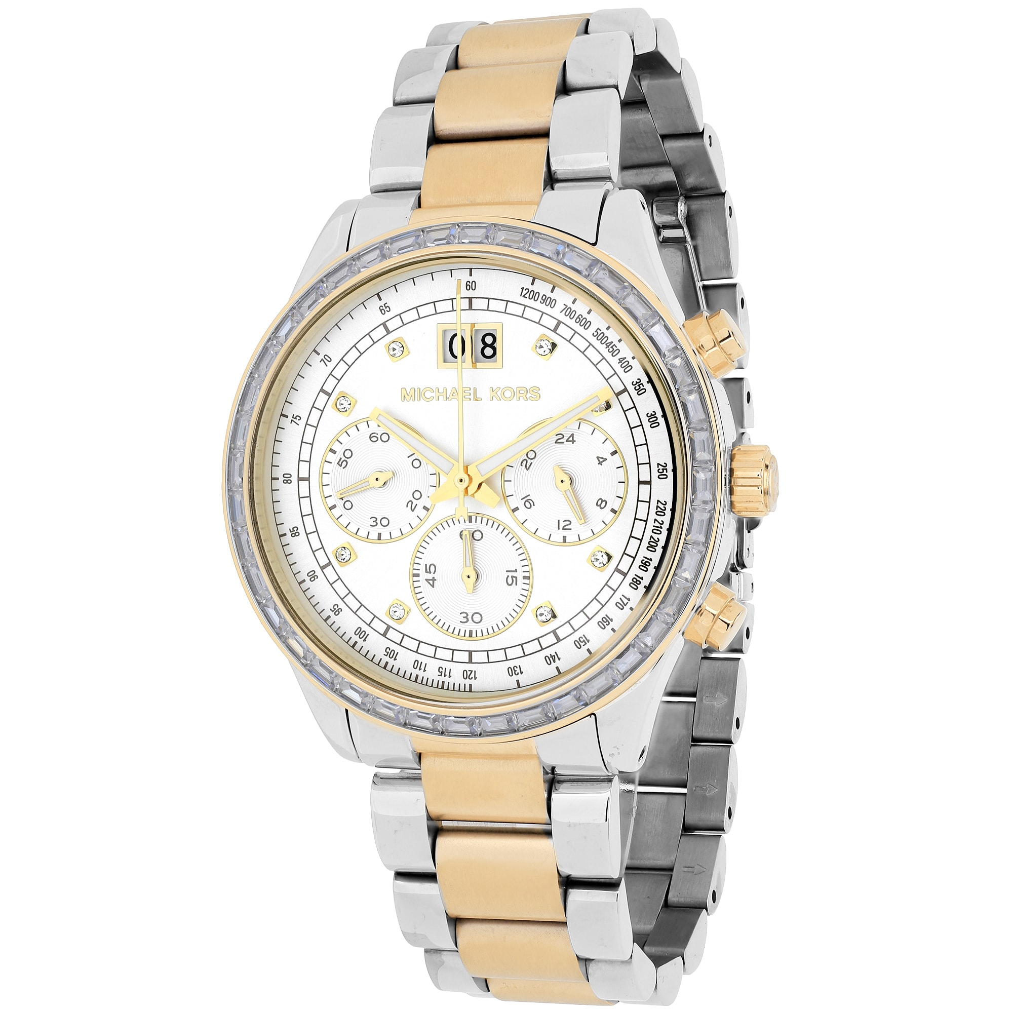 2bb7a6d8168e Shop Michael Kors Women s Brinkley Round Two-tone Bracelet Watch - Free  Shipping Today - Overstock - 10280418