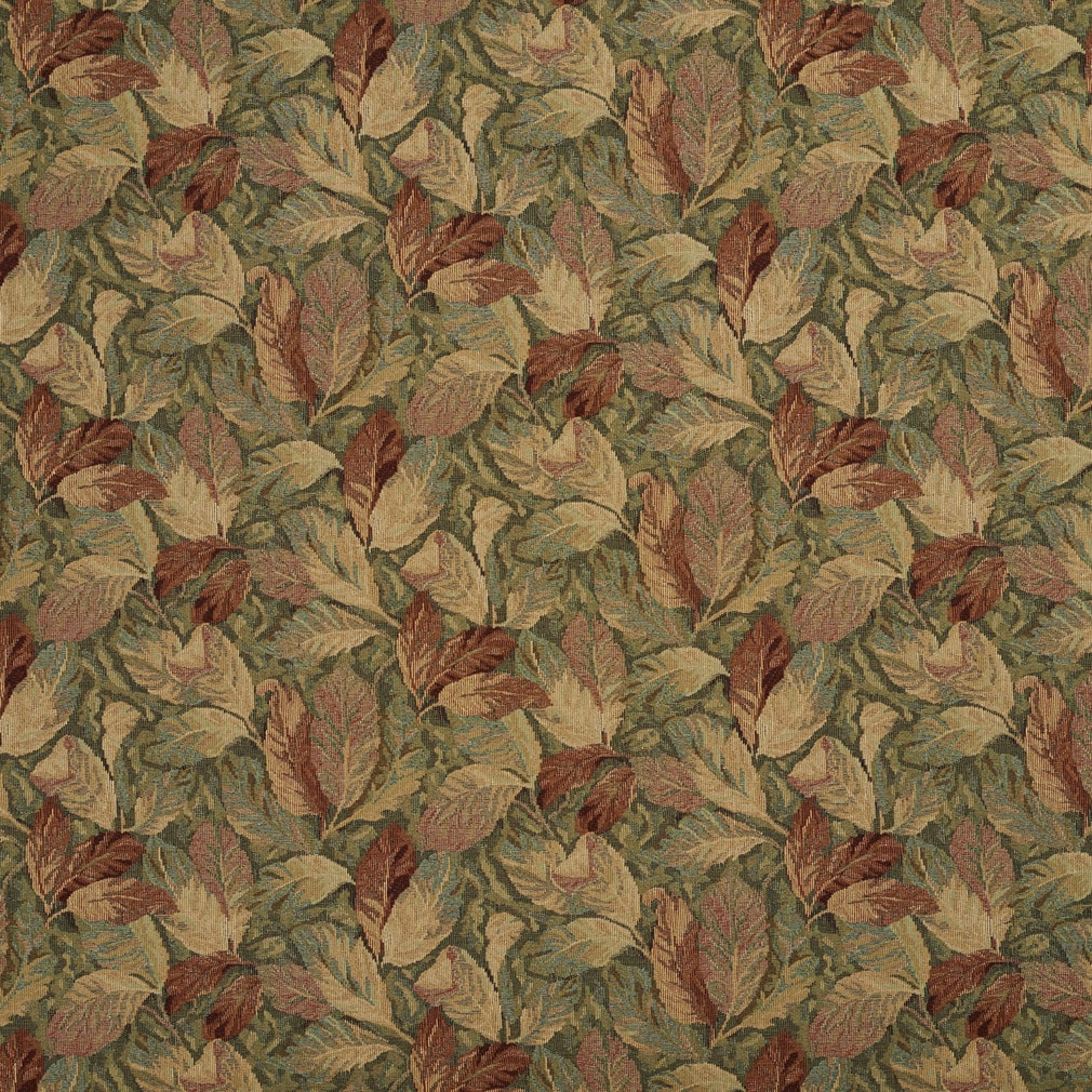 Shop F935 Burgundy And Green Floral Leaves Tapestry Upholstery