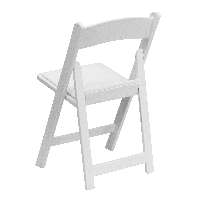 Bergamot White Resin folding chairs Free Shipping Today