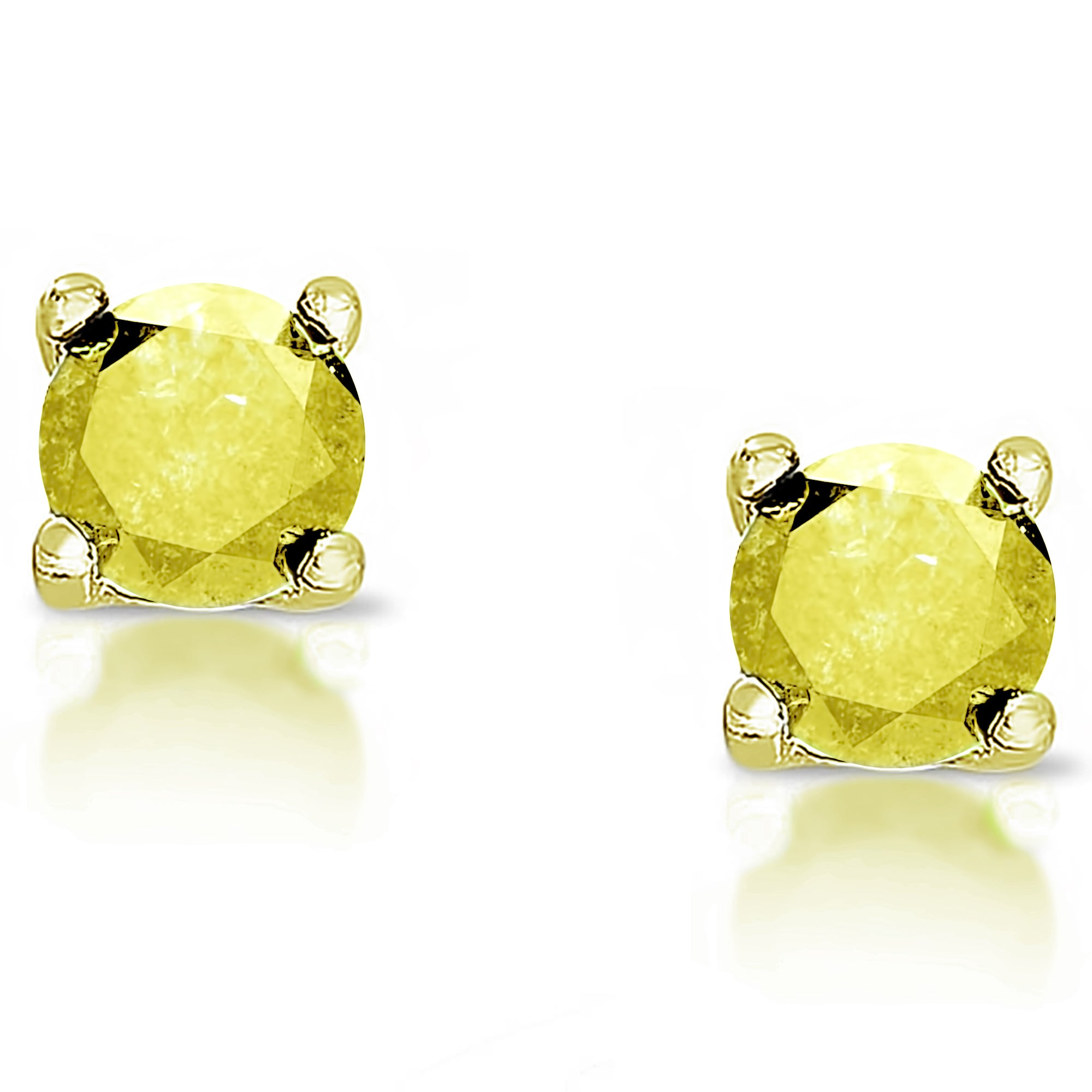 canary halo picture diamond fancy of brown earrings
