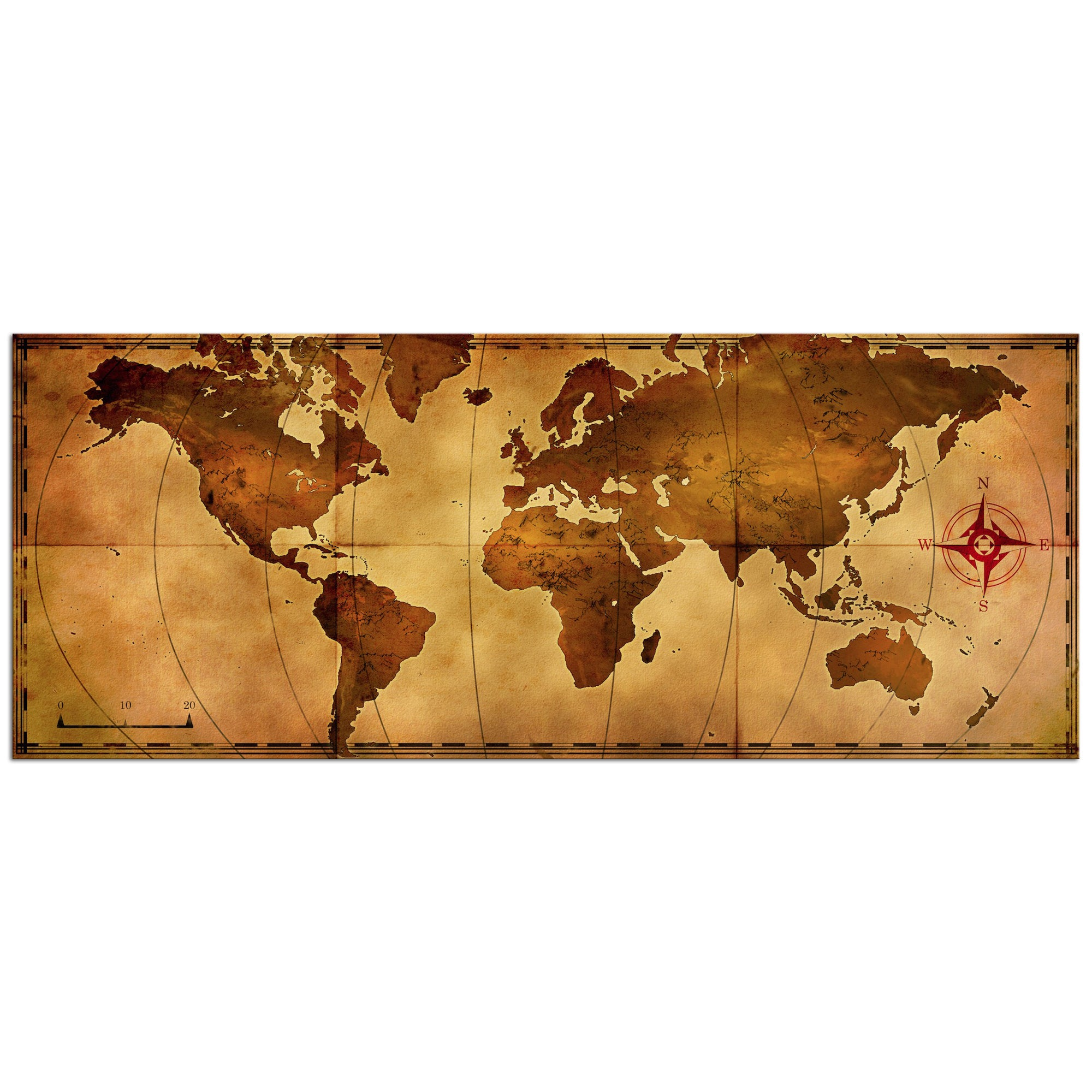 Shop Alan Rodriguez Old World Map Large Rustic World Map Metal