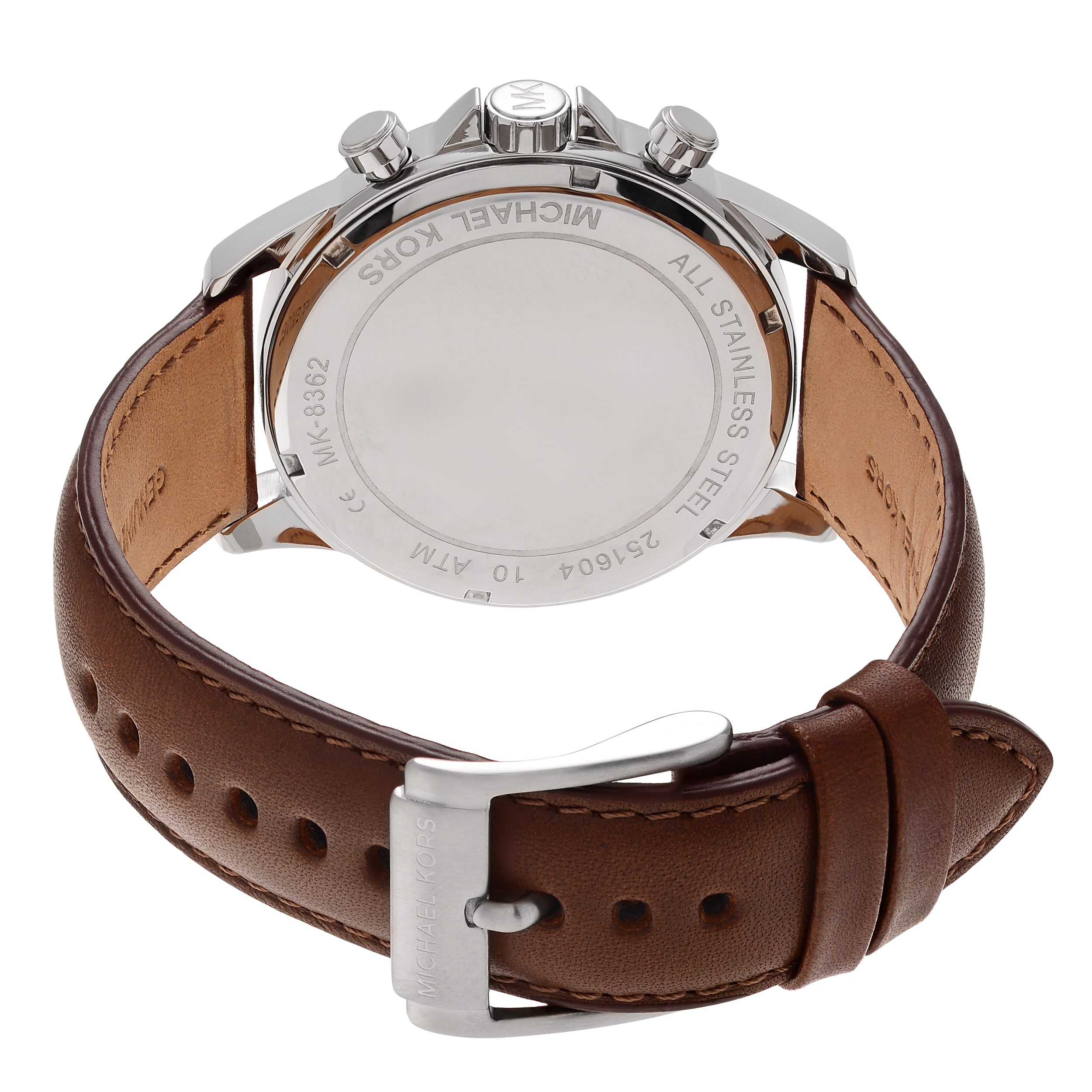 ff39c4695900 Shop Michael Kors Men s MK8362  Gage  Chronograph Brown Leather Watch -  Blue - Free Shipping Today - Overstock - 10283478