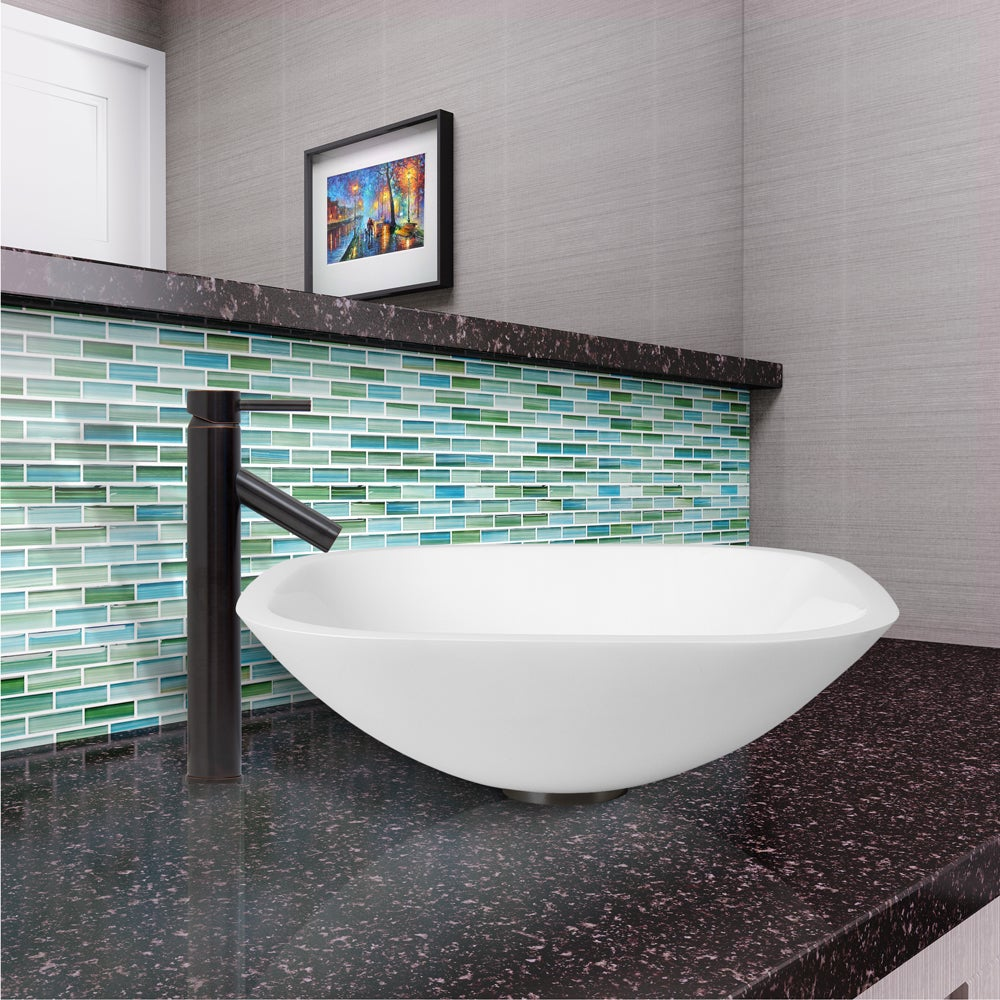 Shop VIGO Marie Phoenix Stone Vessel Bathroom Sink Set With Dior ...