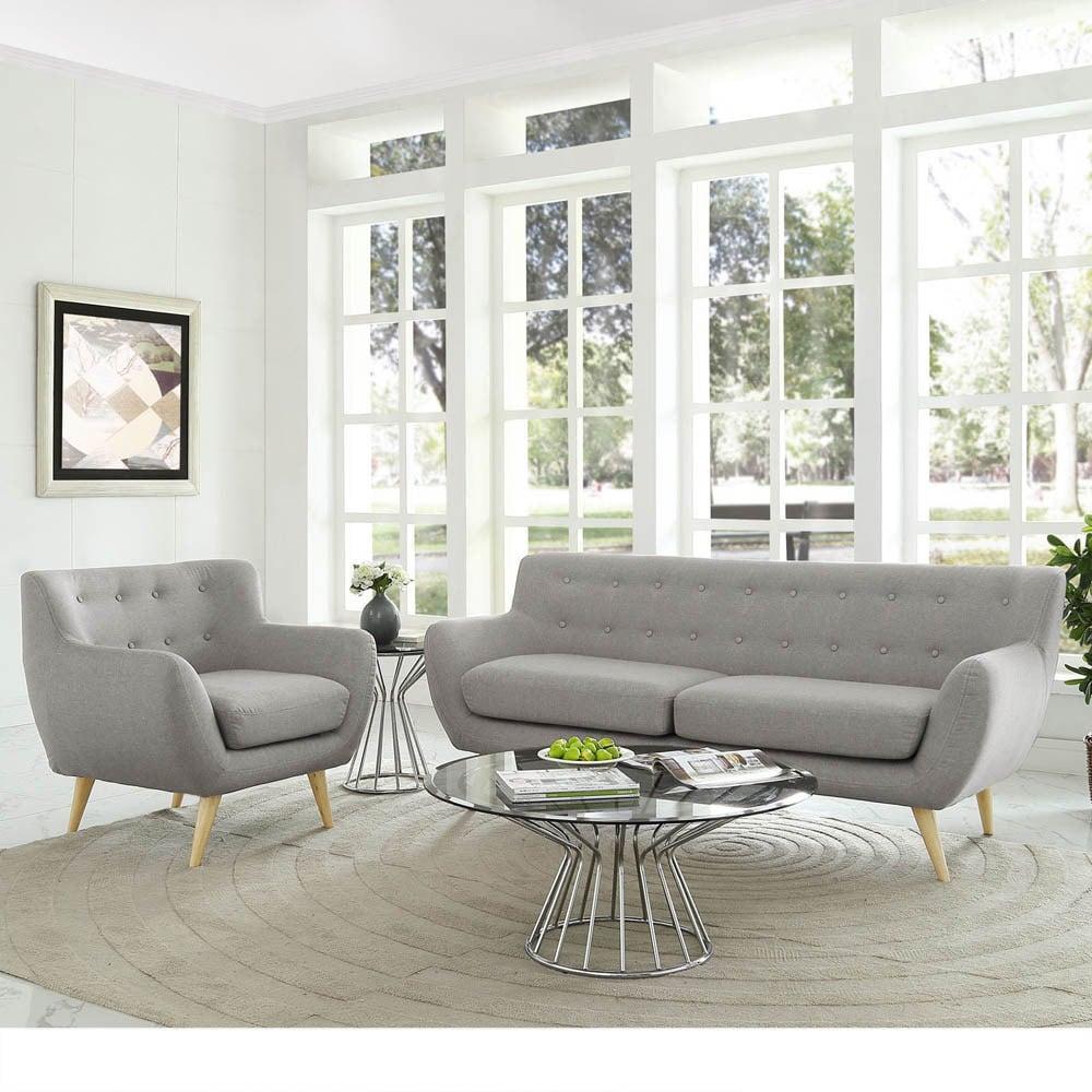 Shop Remark 2-Piece Mid Century Living Room Sofa Set - On Sale ...