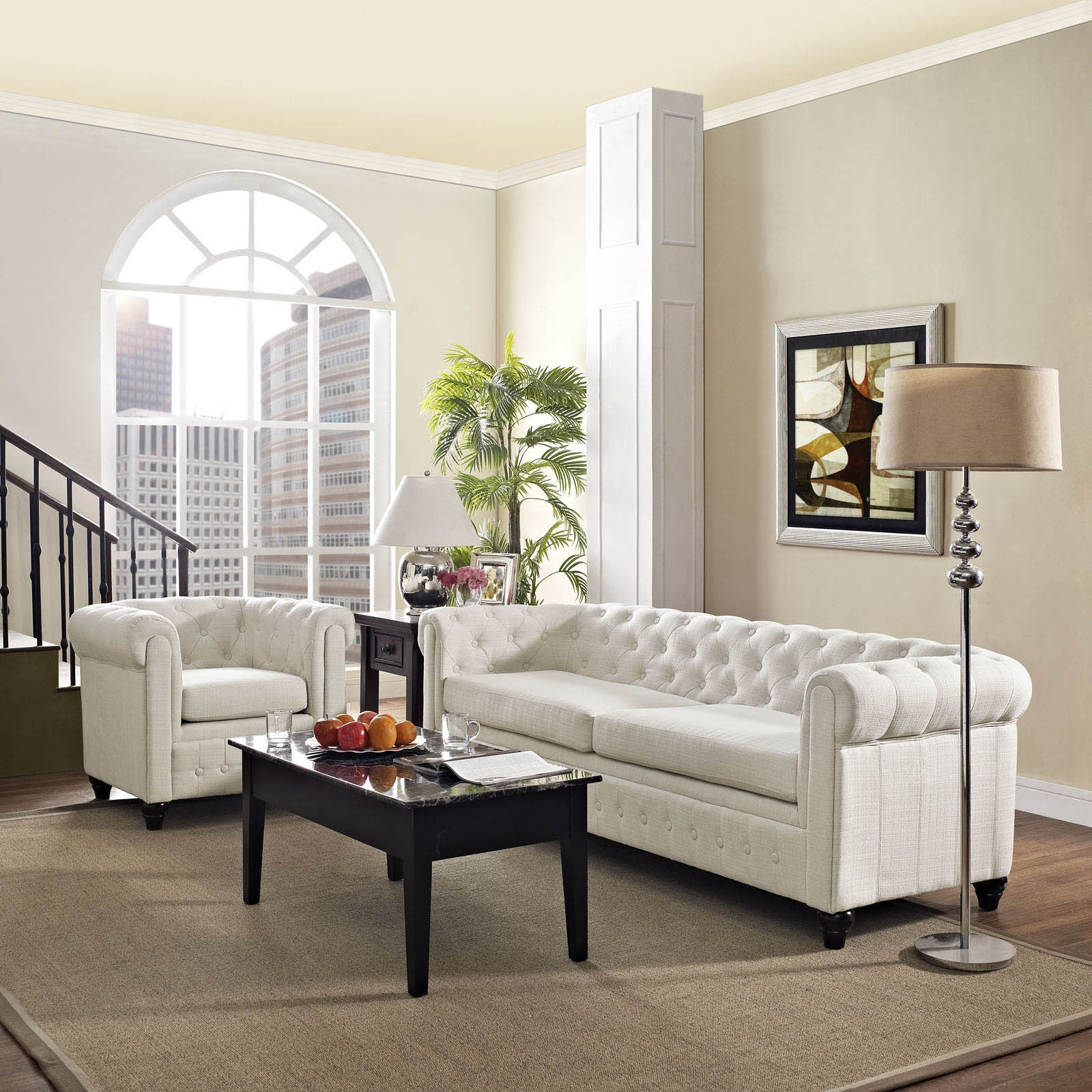 Shop Earl 2-piece Fabric Living Room Set - Free Shipping Today ...