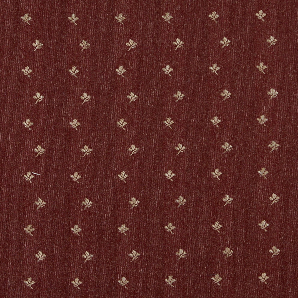 Shop C636 Rustic Red Beige Mini Flowers Country Style Upholstery