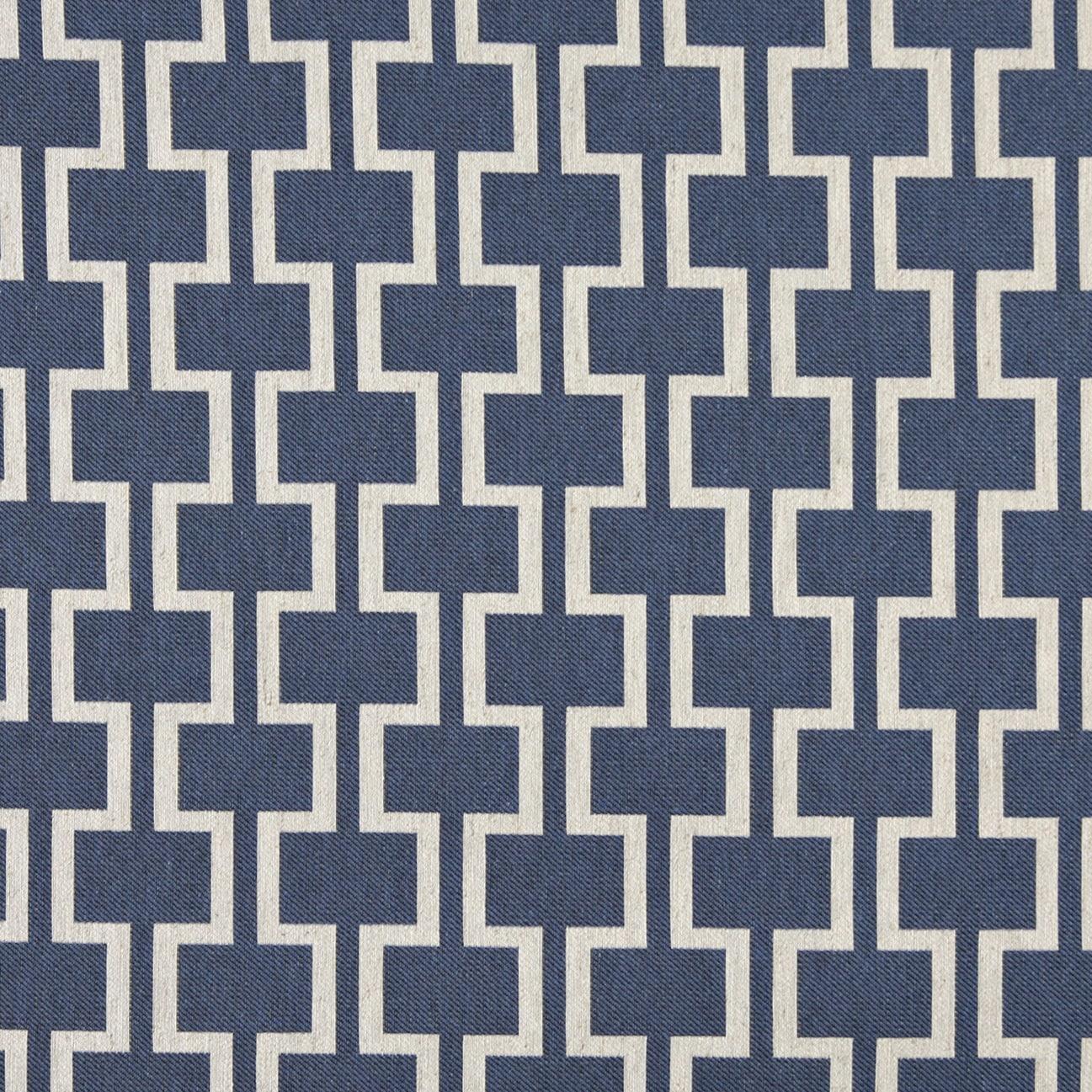Shop A0006e Blue Off White Modern Geometric Upholstery Fabric Free