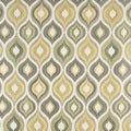 A0019B Gold Blue and Green Bright Contemporary Upholstery Fabric