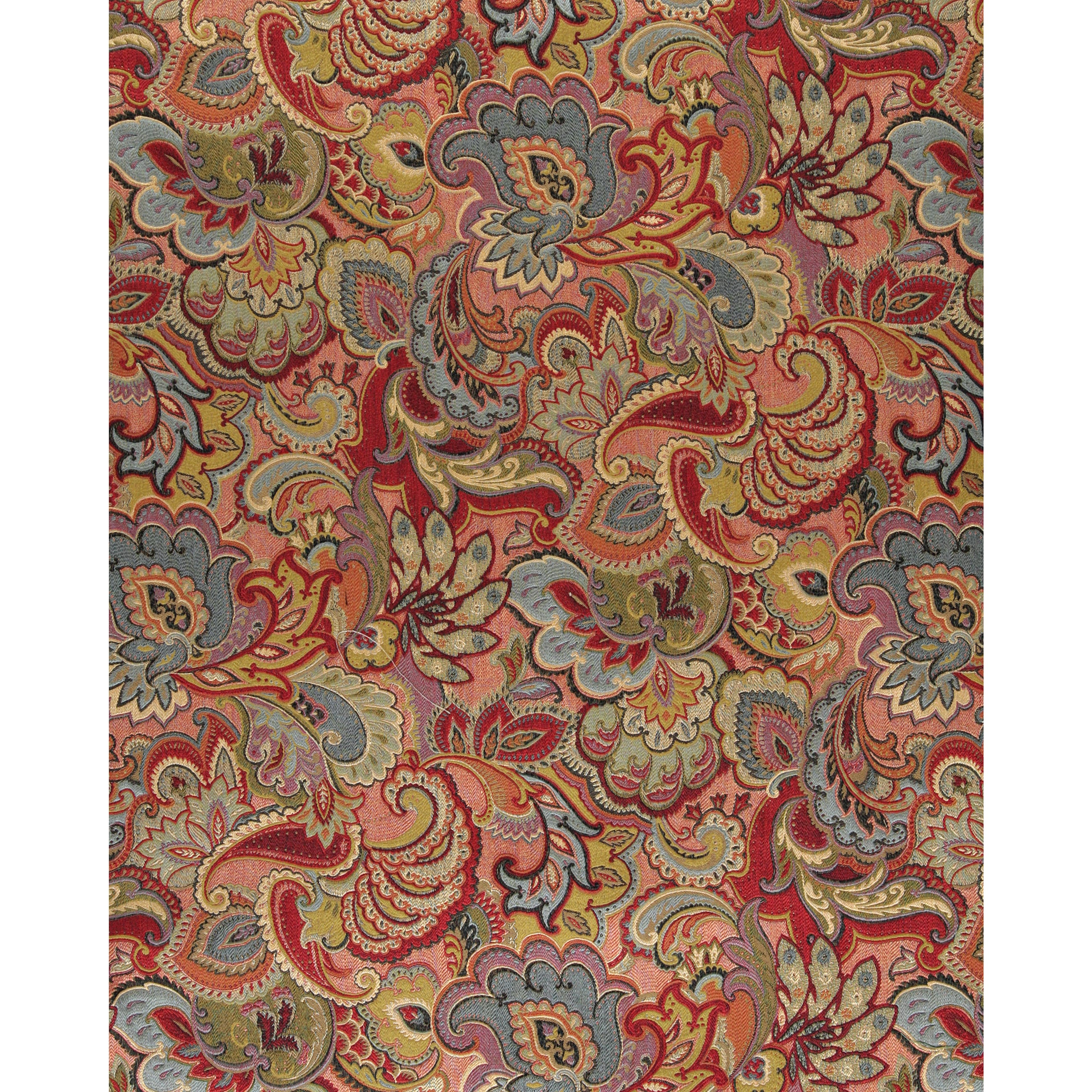 Shop A0025b Green Blue Red Gold Abstract Floral Upholstery Fabric