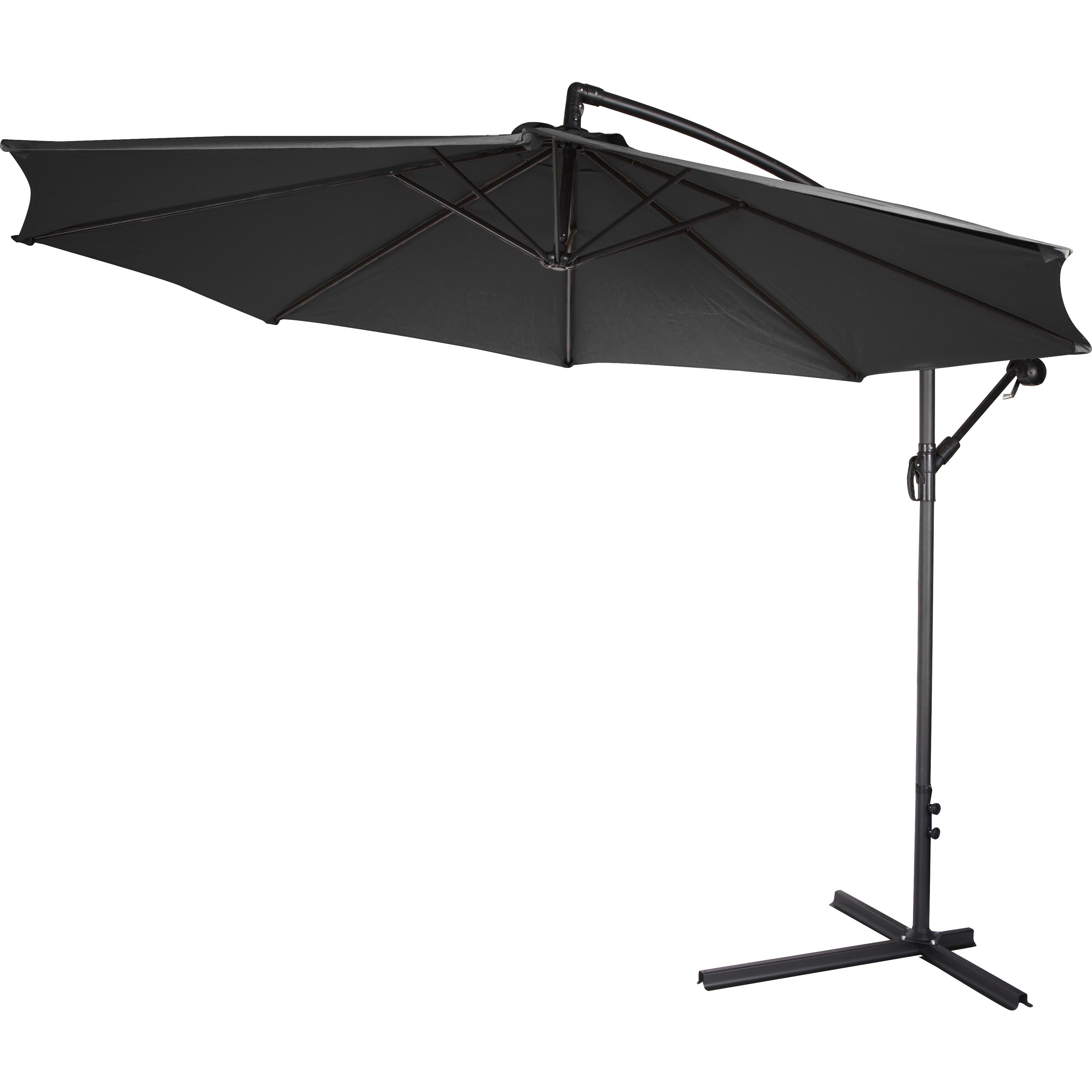 10 inch Deluxe Polyester Black fset Patio Umbrella Free