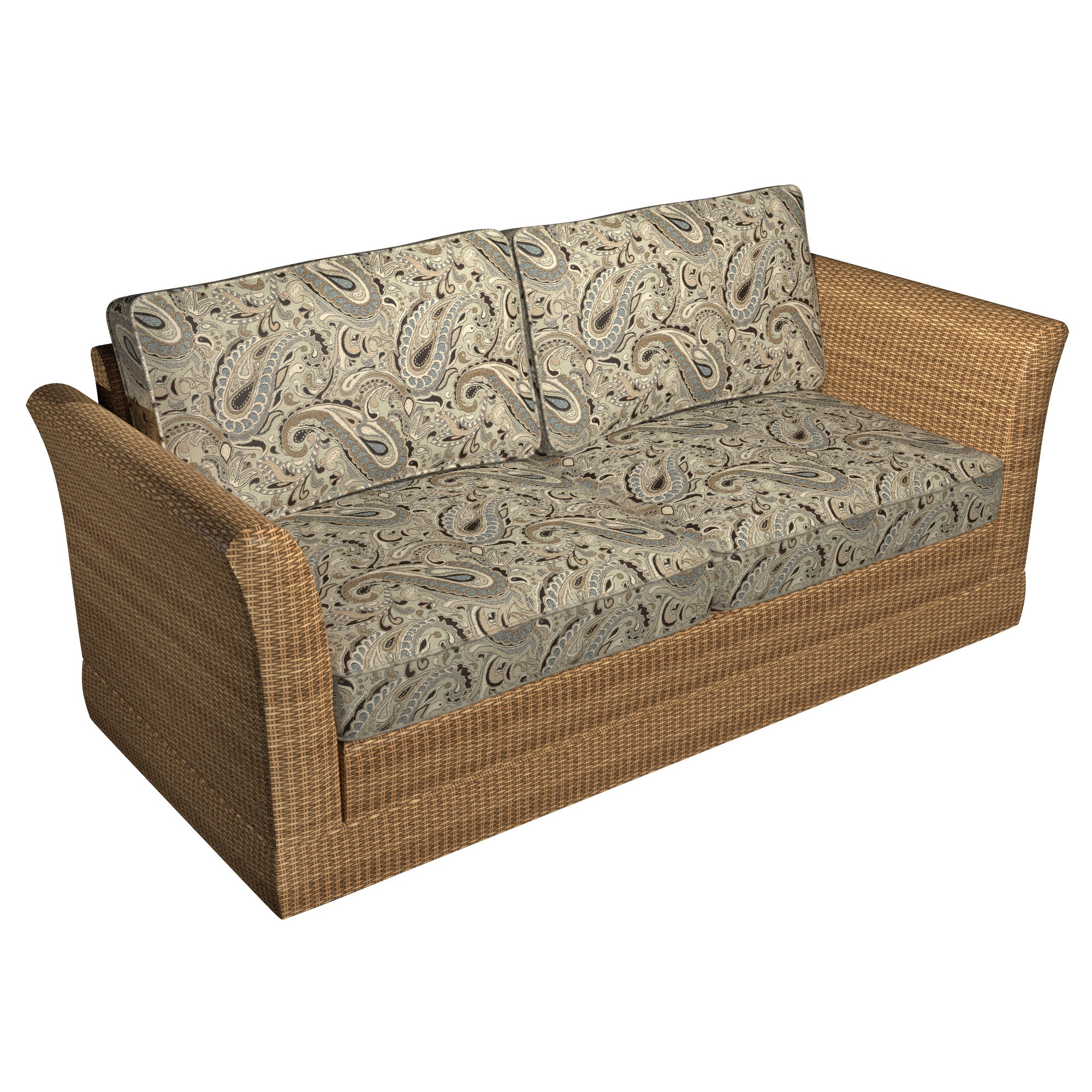 Shop A0110A Brown Blue Tan Paisley Woven Indoor Outdoor Upholstery ...