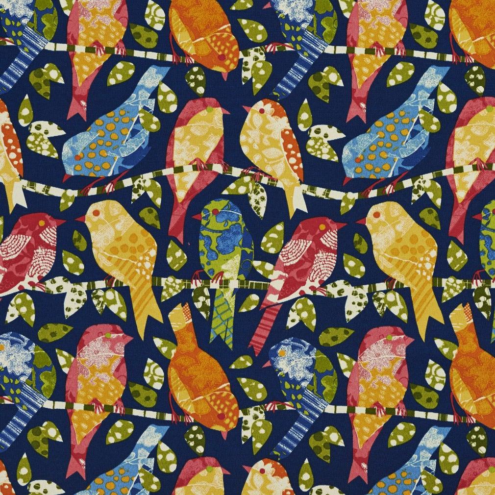 Green Bird Print Fabric Www Topsimages Com