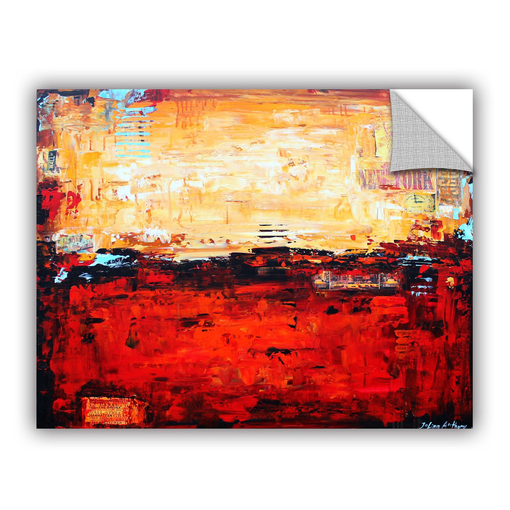 ArtWall Jolina Anthony \'Abstract Warm\' Art Appealz Removable Wall ...