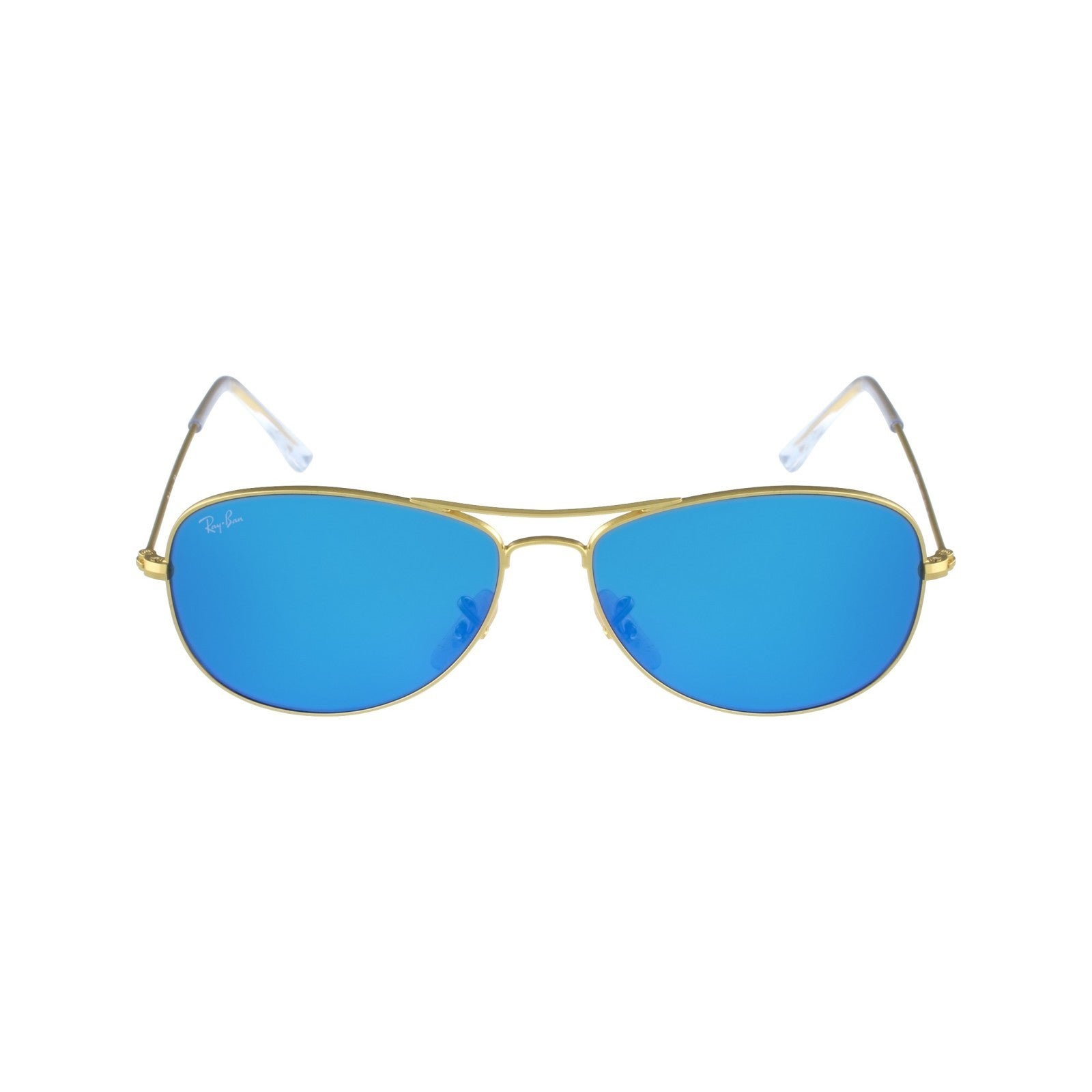 15a9008ae3 ... ireland shop ray ban rb3362 cockpit sunglasses gold frame blue flash  lens free shipping today overstock