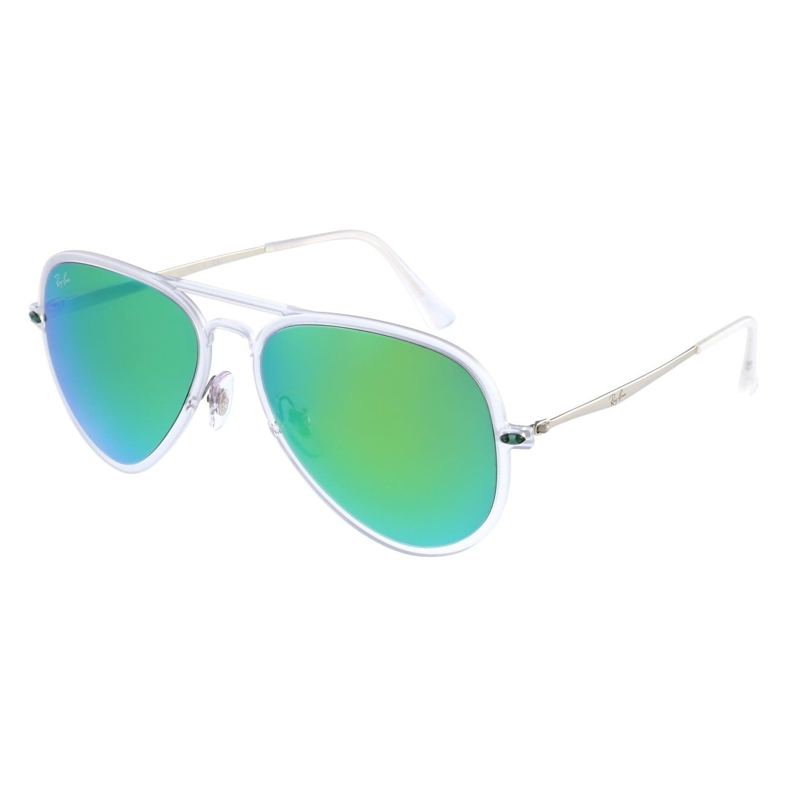 01db9e0da5de Shop Ray Ban RB4211 Aviator Light Ray II Green Mirror Sunglasses - Ships To  Canada - Overstock - 10289623