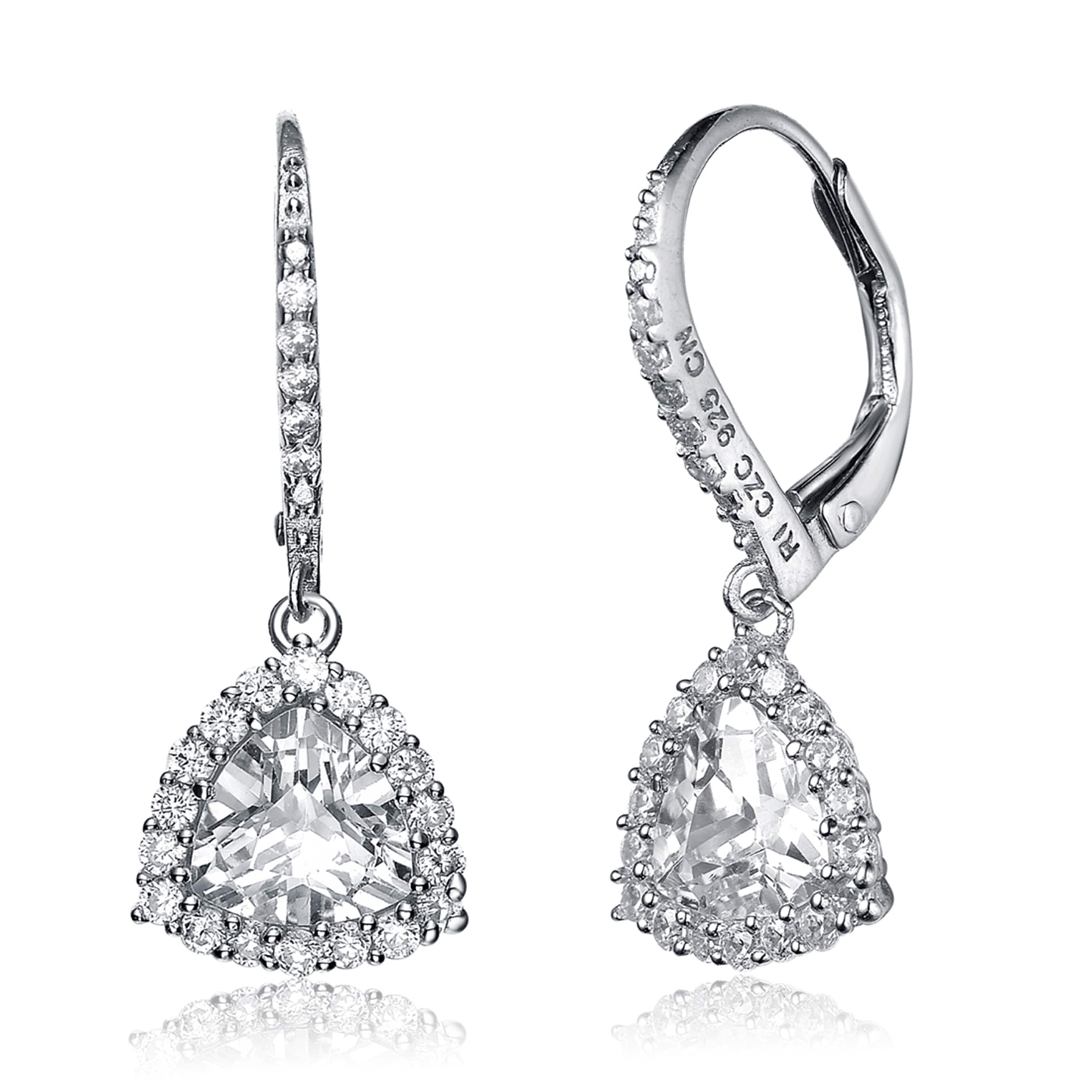 Collette Z Sterling Silver Cubic Zirconia Drop Earrings Free Shipping On Orders Over 45 17404127