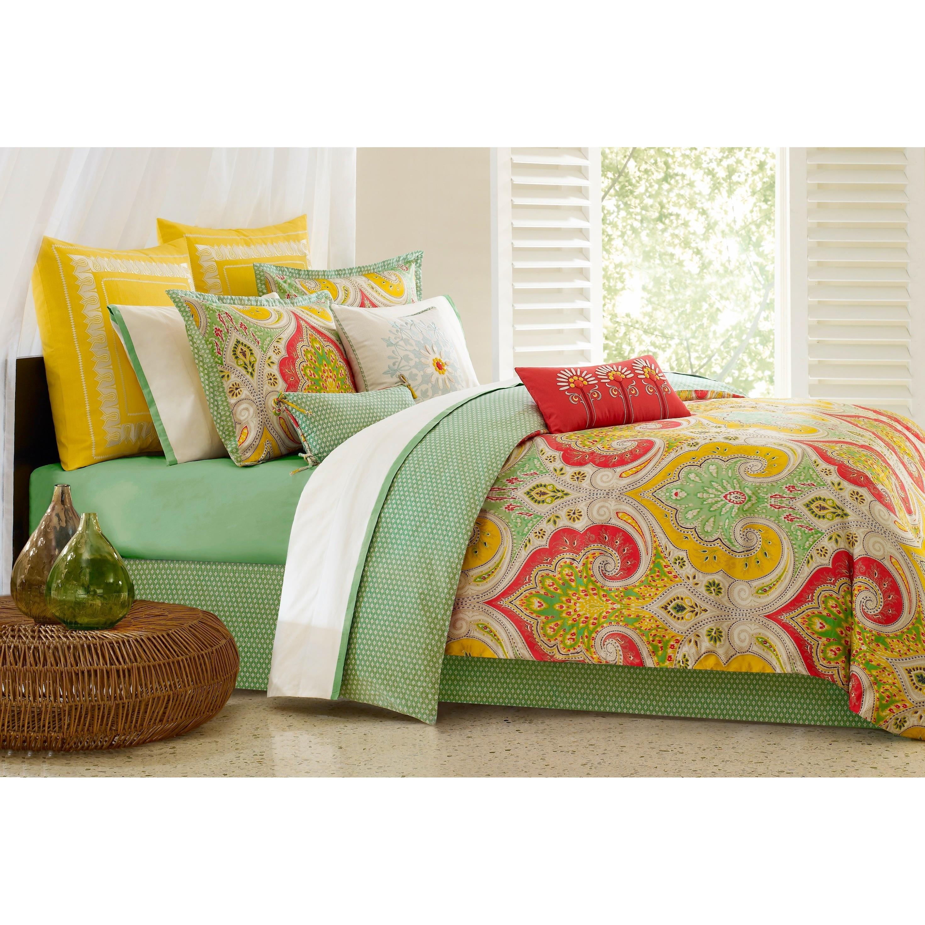 Shop Echo Design Jaipur Yellow Cotton 26 X 26 Inch Euro Sham With