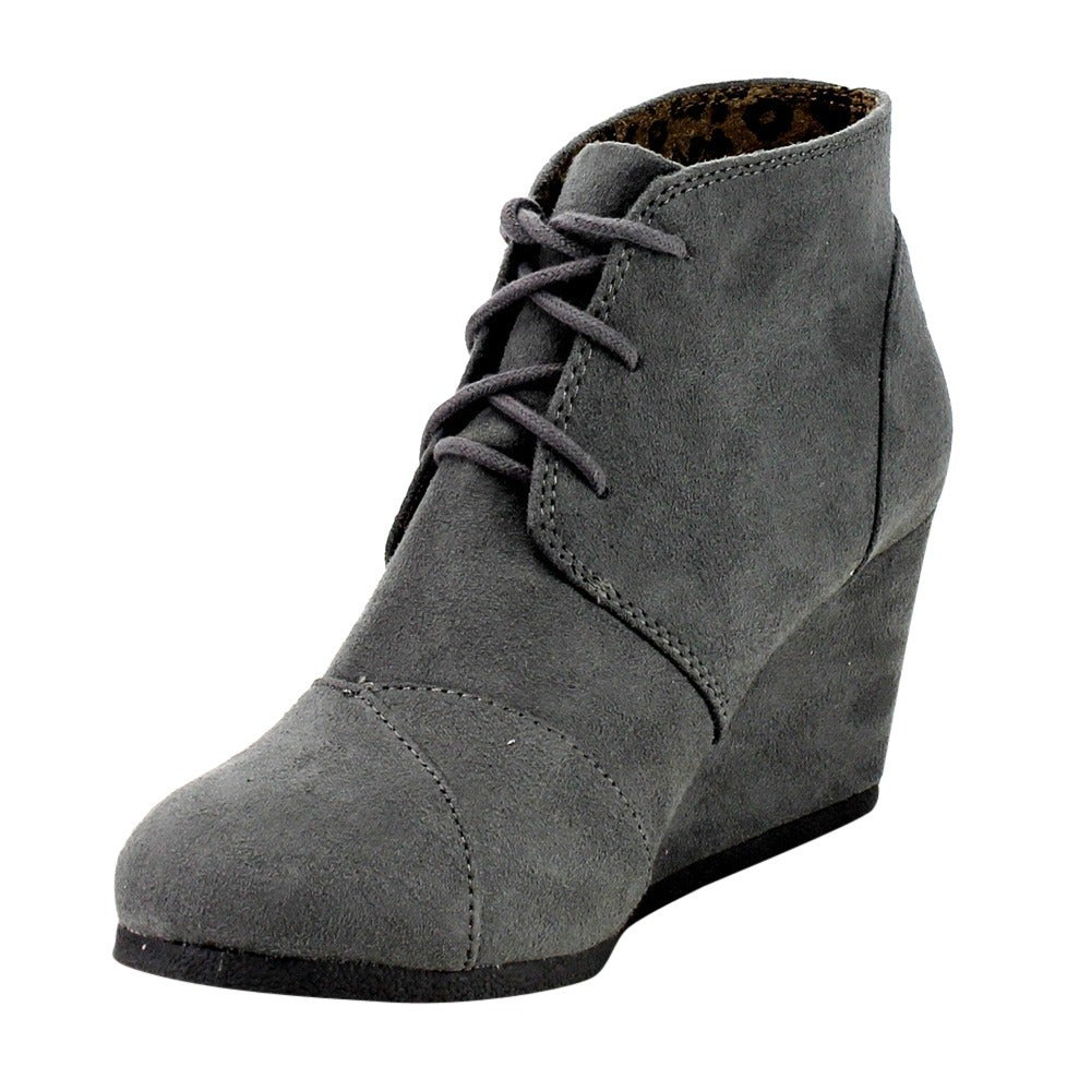 472cc64088dd Shop Cityclassified Rex s Women s Lace Up Wedge Dress Ankle Booties - Free  Shipping On Orders Over  45 - Overstock - 10290416