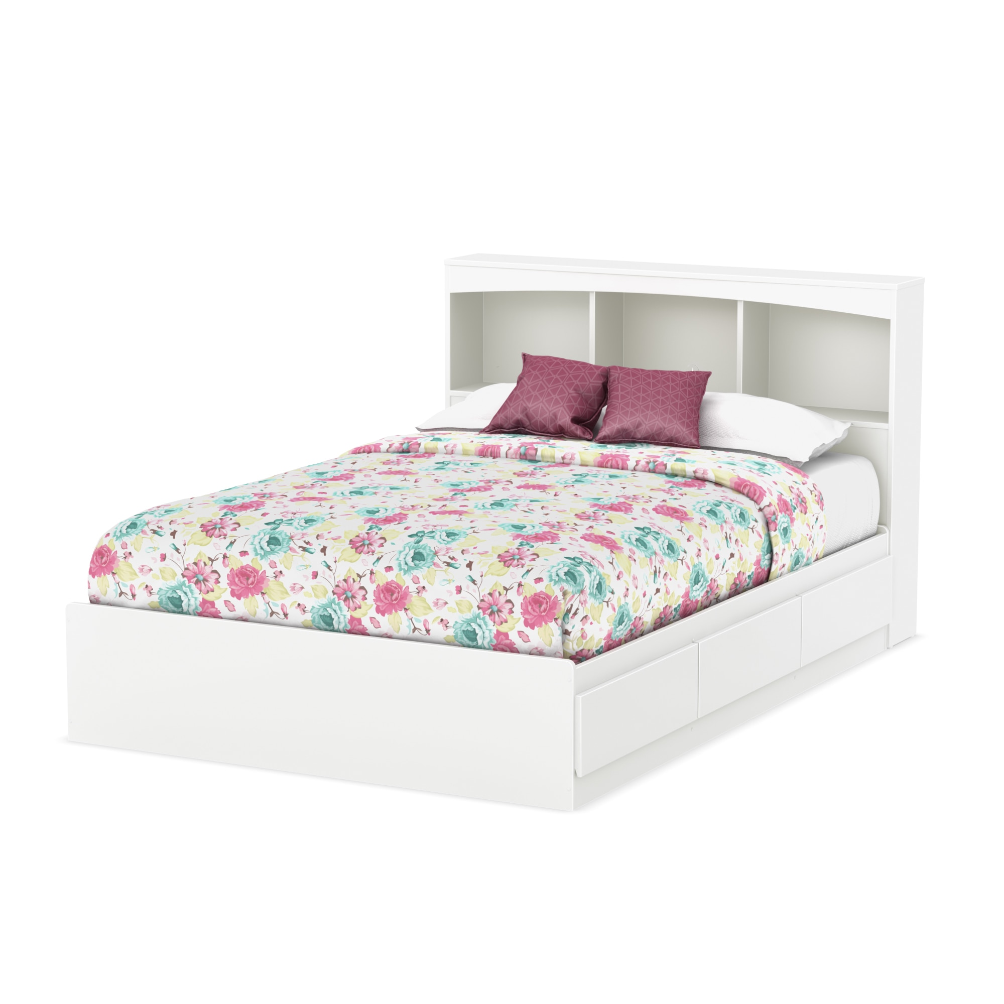 kids headboards shore white spark full beds pure bookcase south headboard p in size