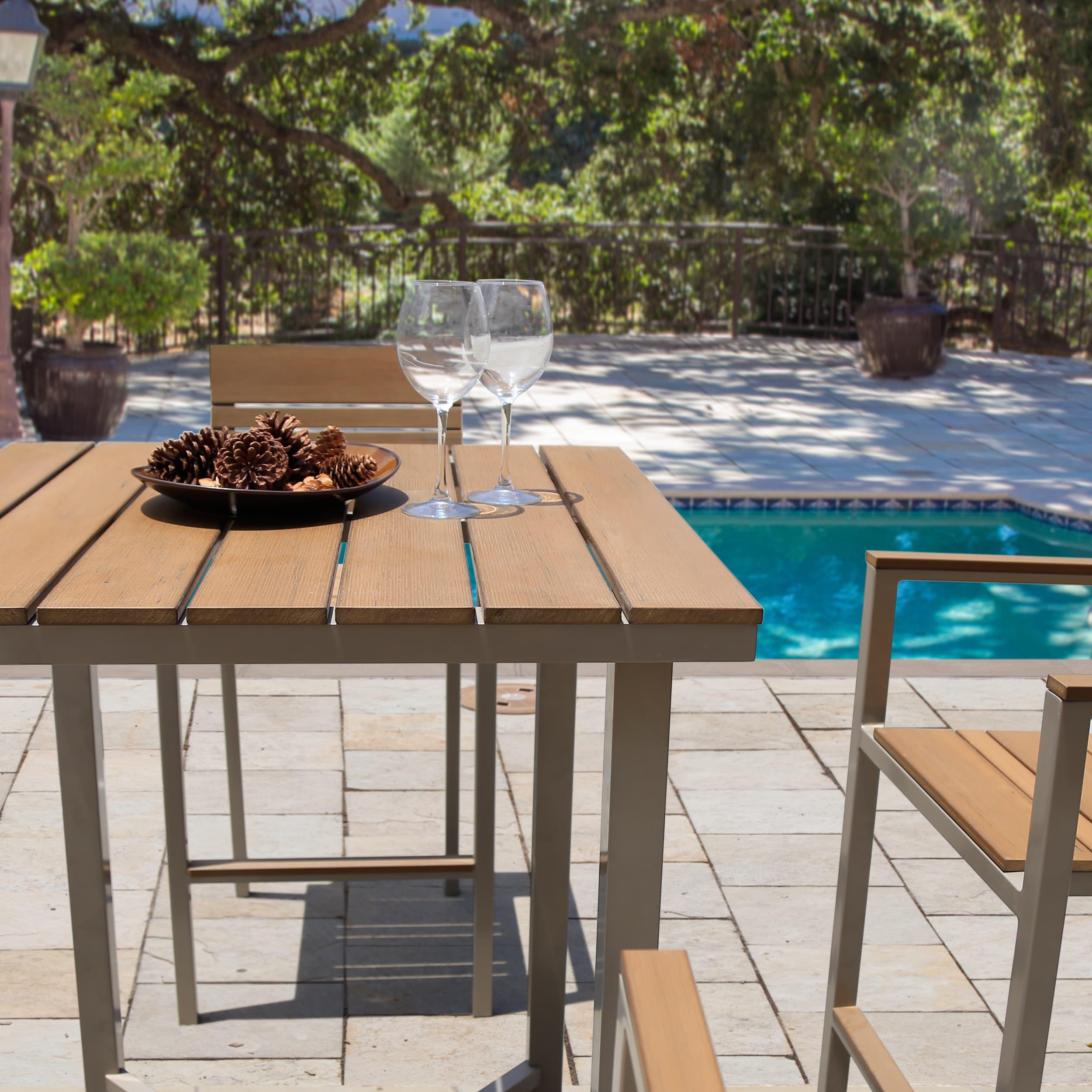 Corvus Jasmine Outdoor 5 piece Aluminum Bar Set with Sunbrella