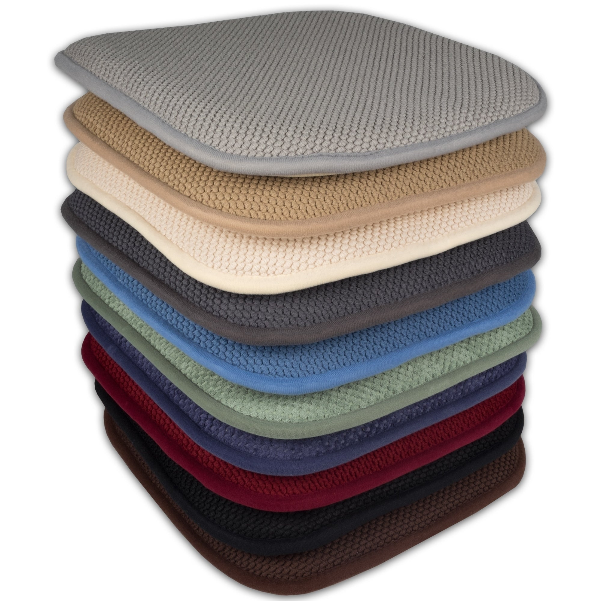 16x16 memory foam chair pad seat cushion with non slip backing 2 or 4 pack 16 x 16