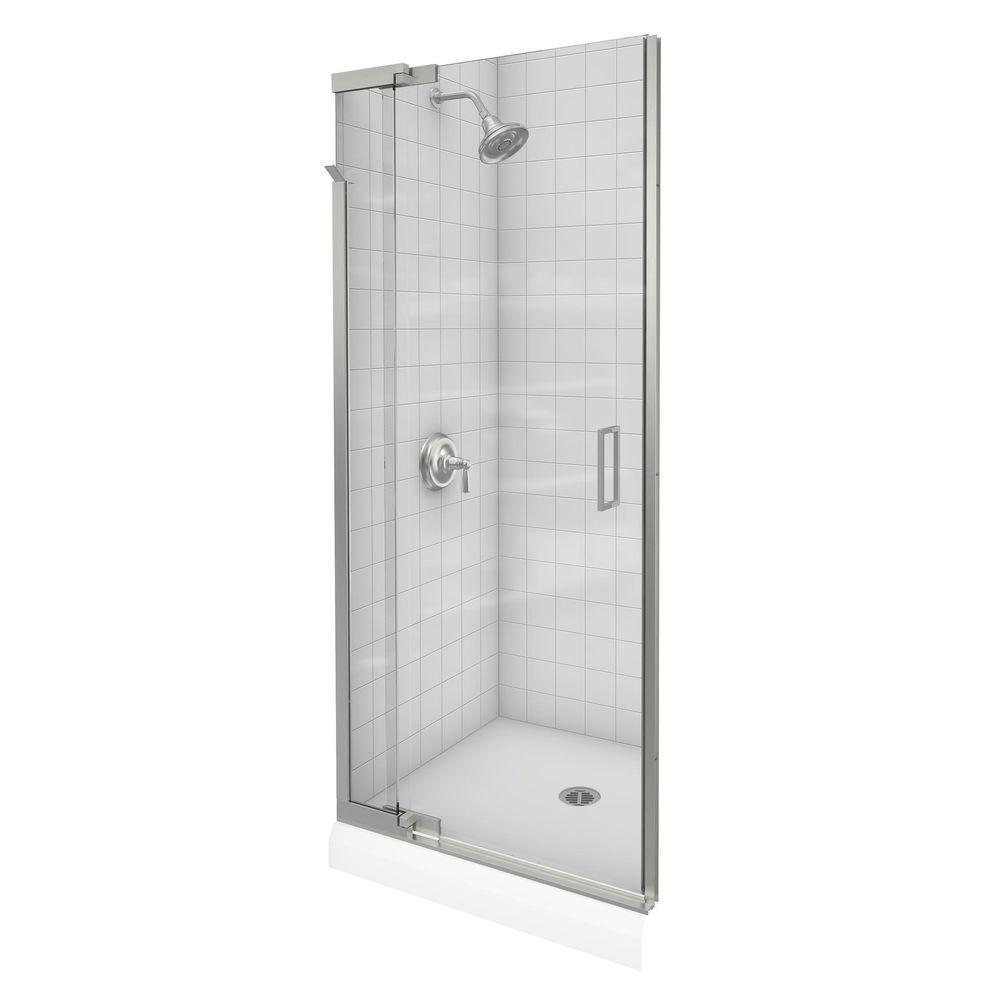 Shop Kohler Purist 36 Inches X 72 Inches Frameless Pivot Shower Door