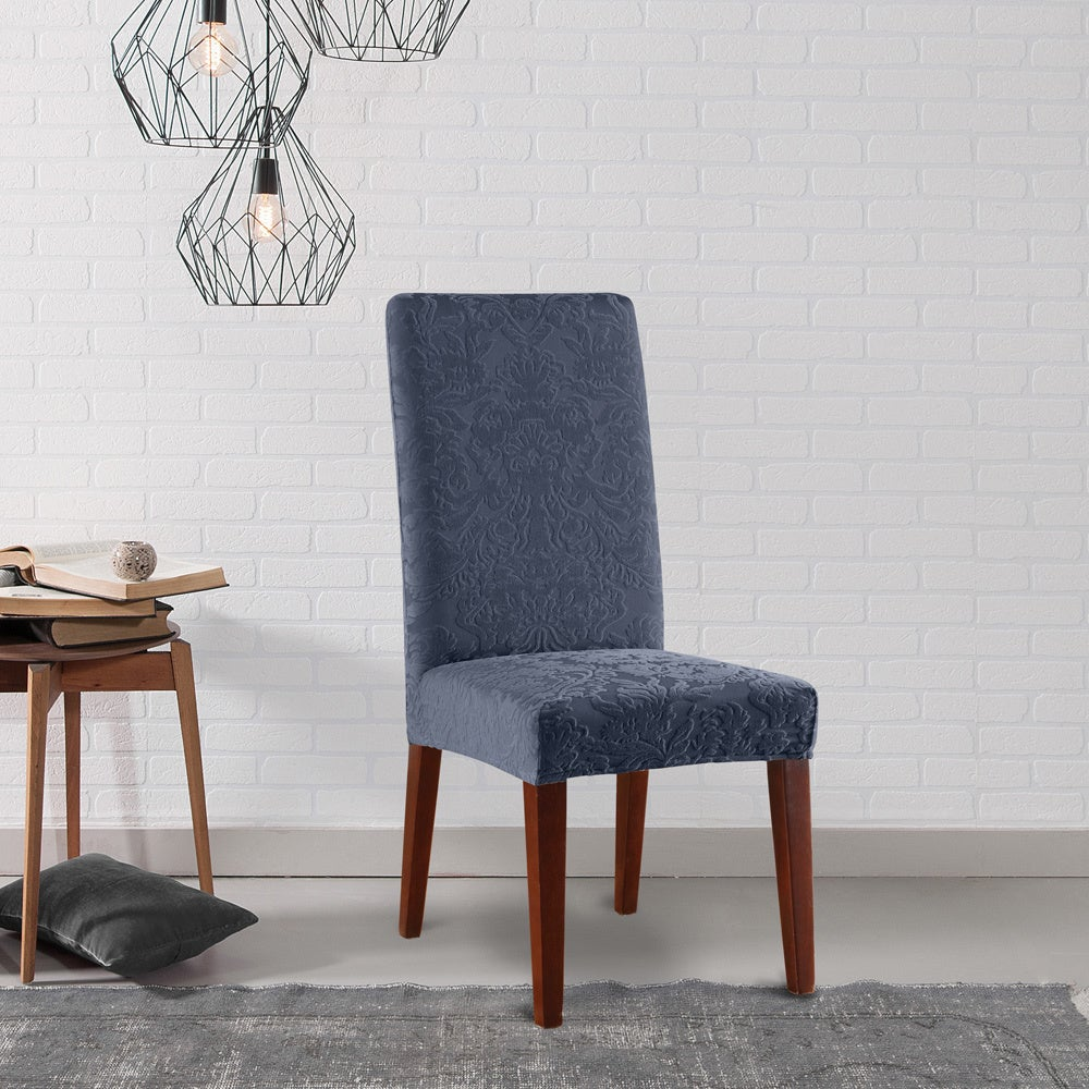 Sure Fit Stretch Jacquard Damask Dining Room Chair Slipcover