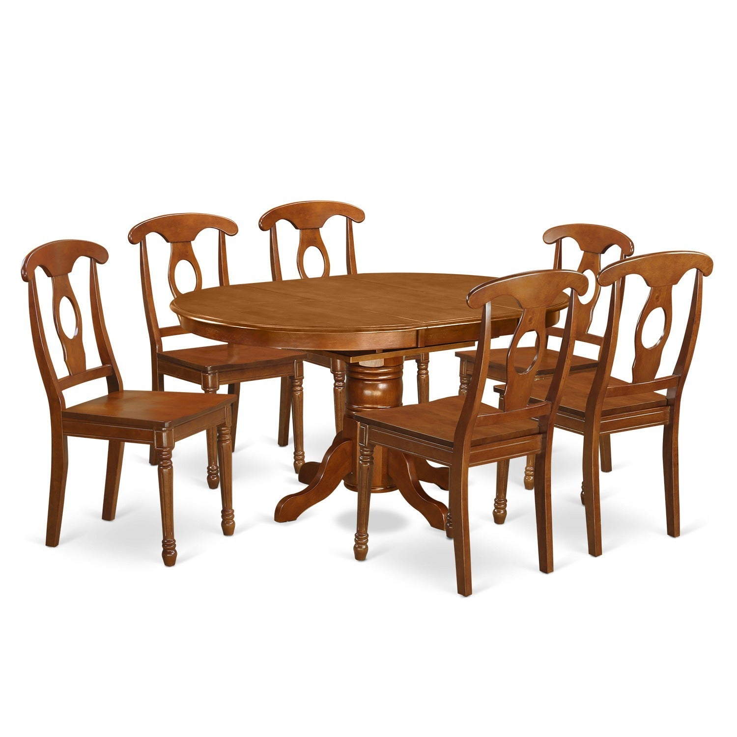 7 piece dining room table with leaf and 6 dining chairs free shipping today overstock 17410194